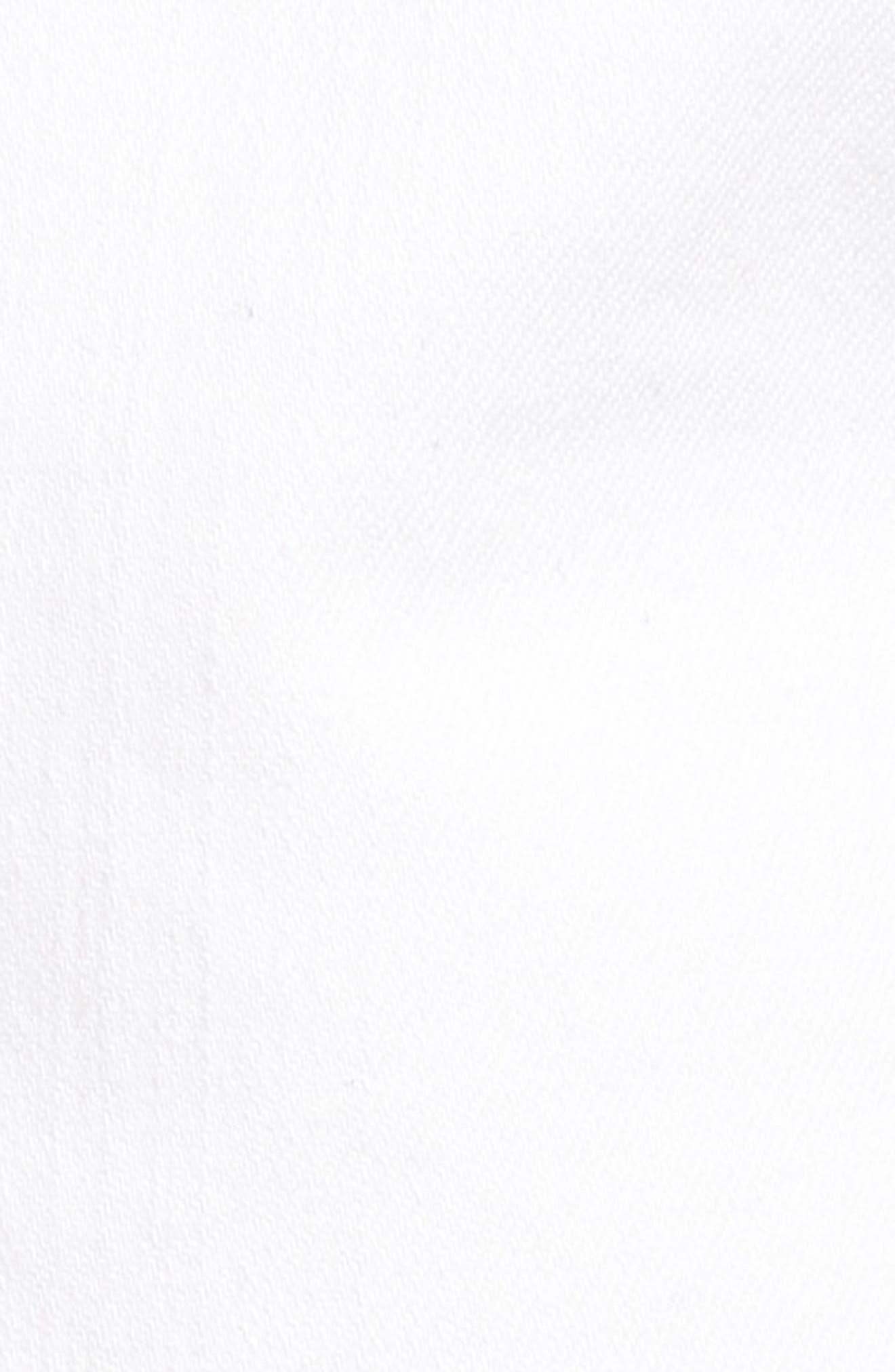Mia Maternity Boyfriend Shorts,                             Alternate thumbnail 5, color,                             White