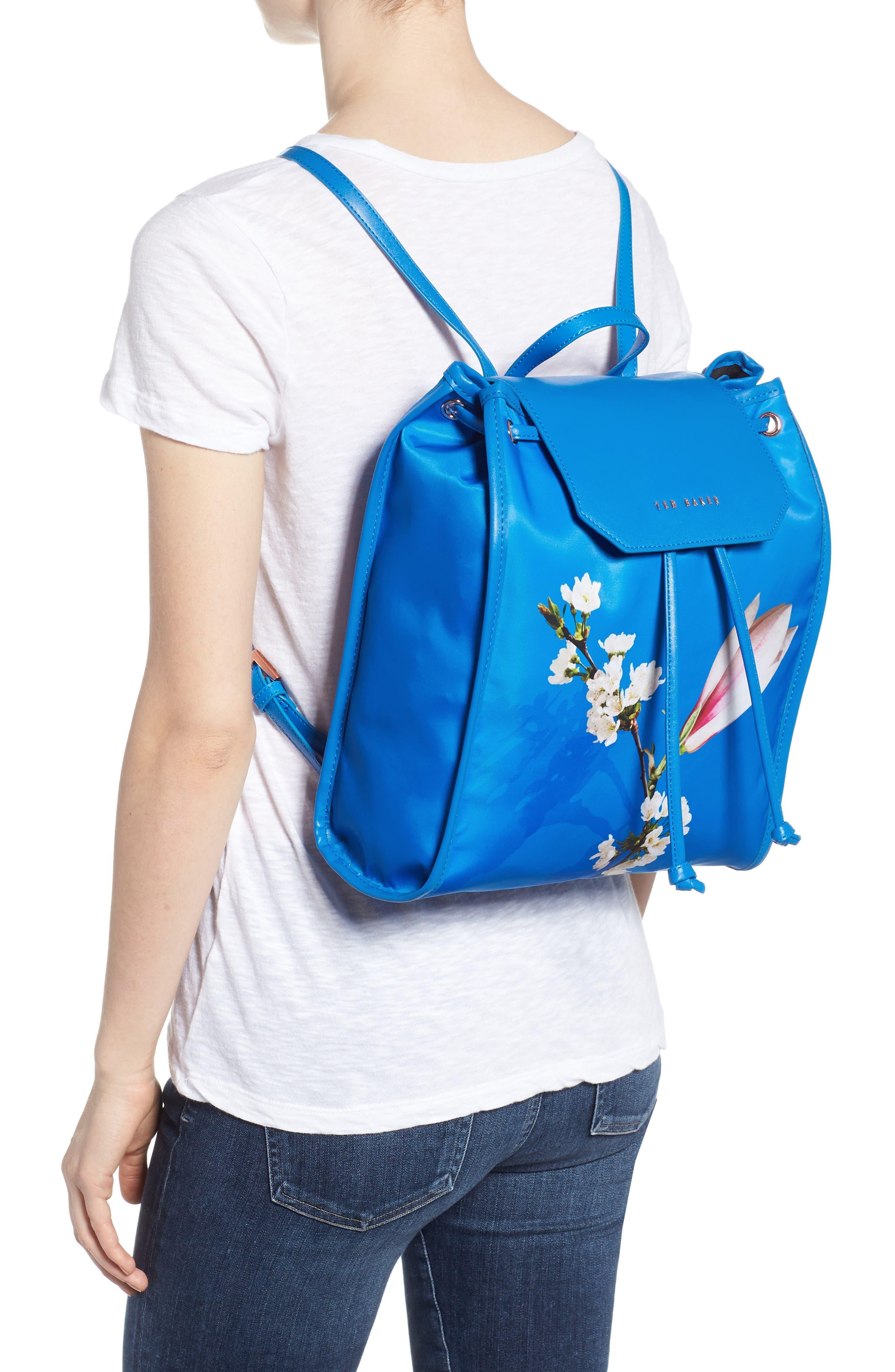 Baileee Harmony Print Backpack,                             Alternate thumbnail 2, color,                             Bright Blue