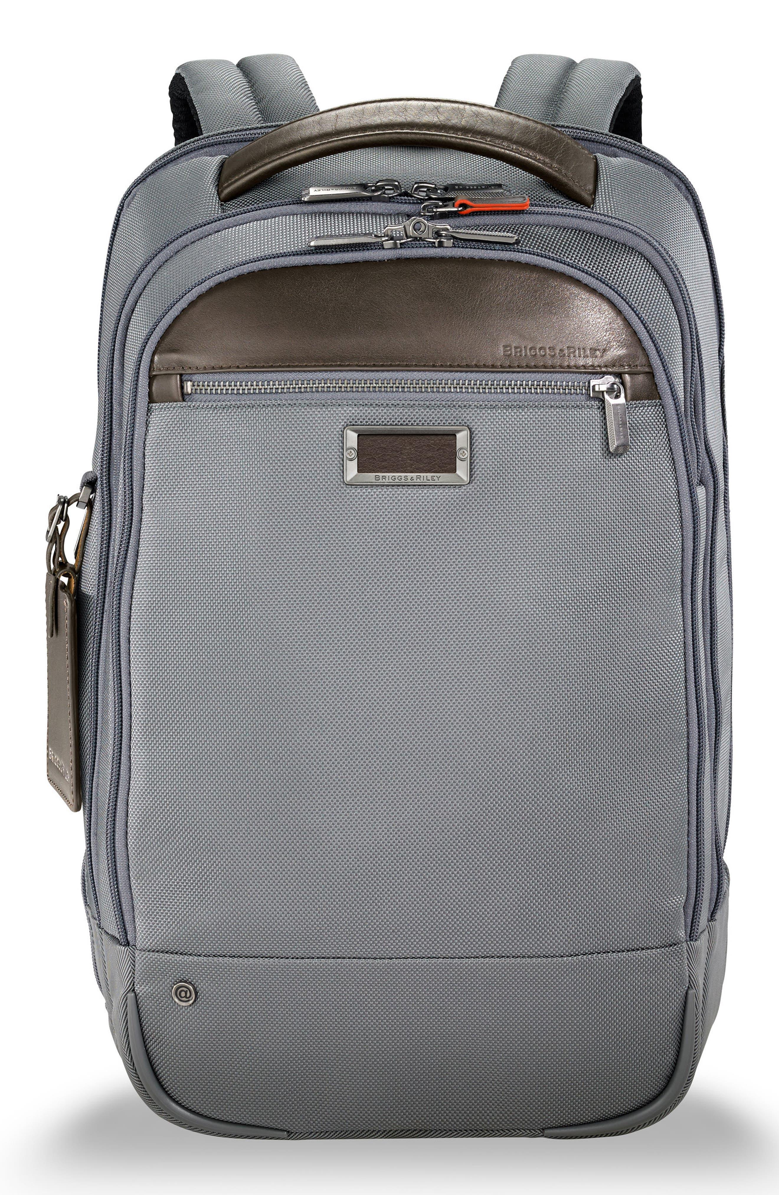 @work Medium Backpack,                         Main,                         color, Grey
