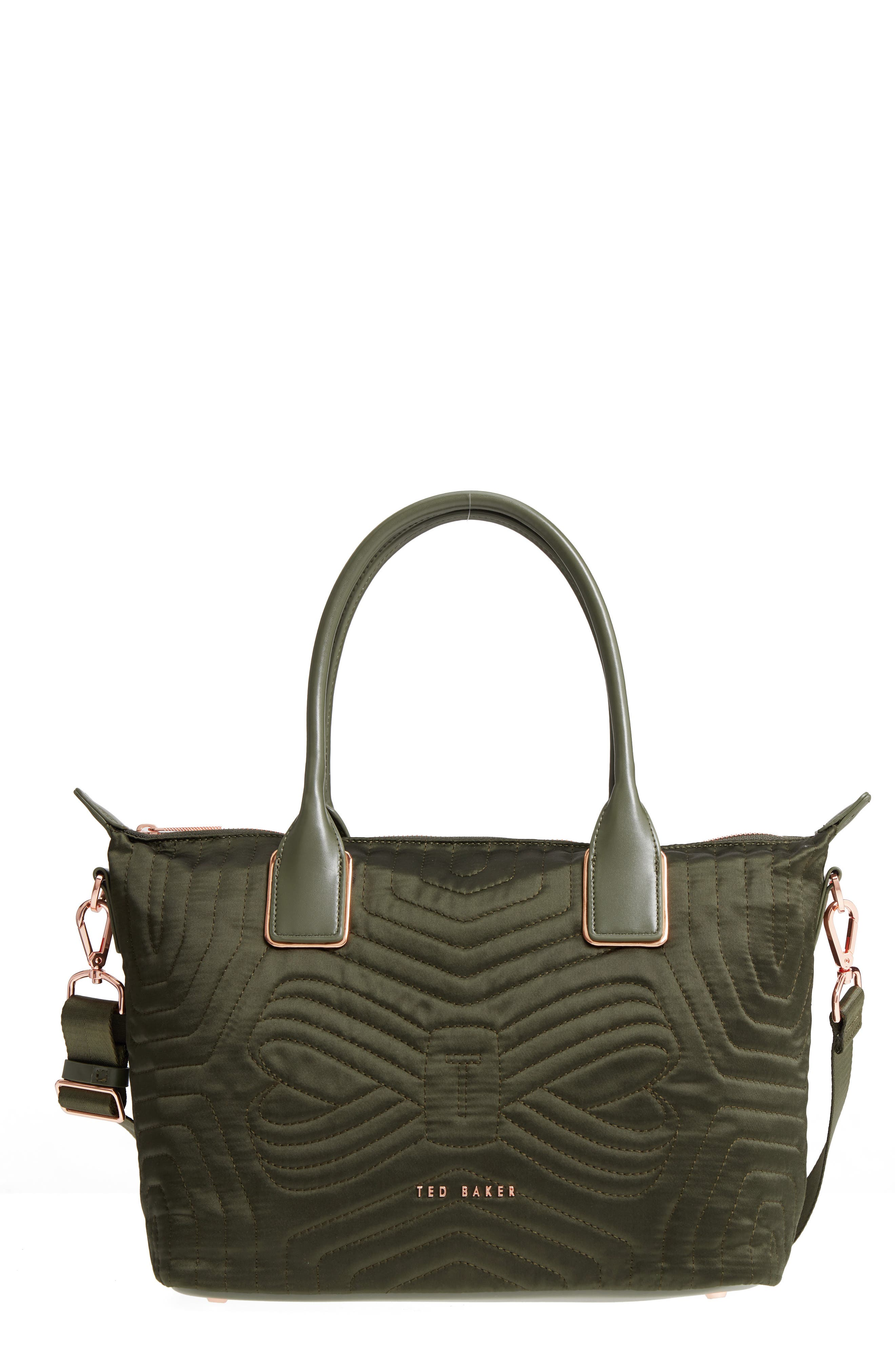 Ted Baker London Quilted Bow Small Nylon Tote