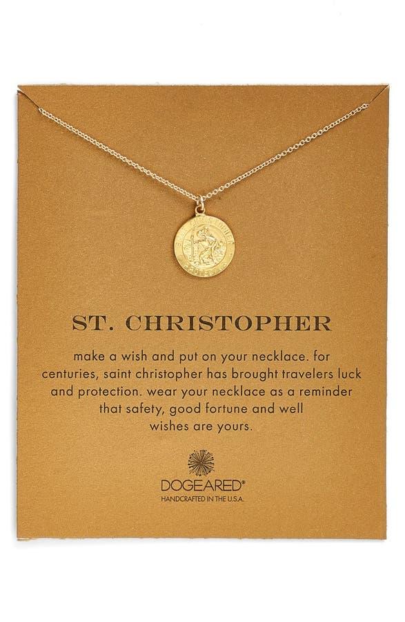 Dogeared st christopher pendant necklace nordstrom main image dogeared st christopher pendant necklace aloadofball Gallery