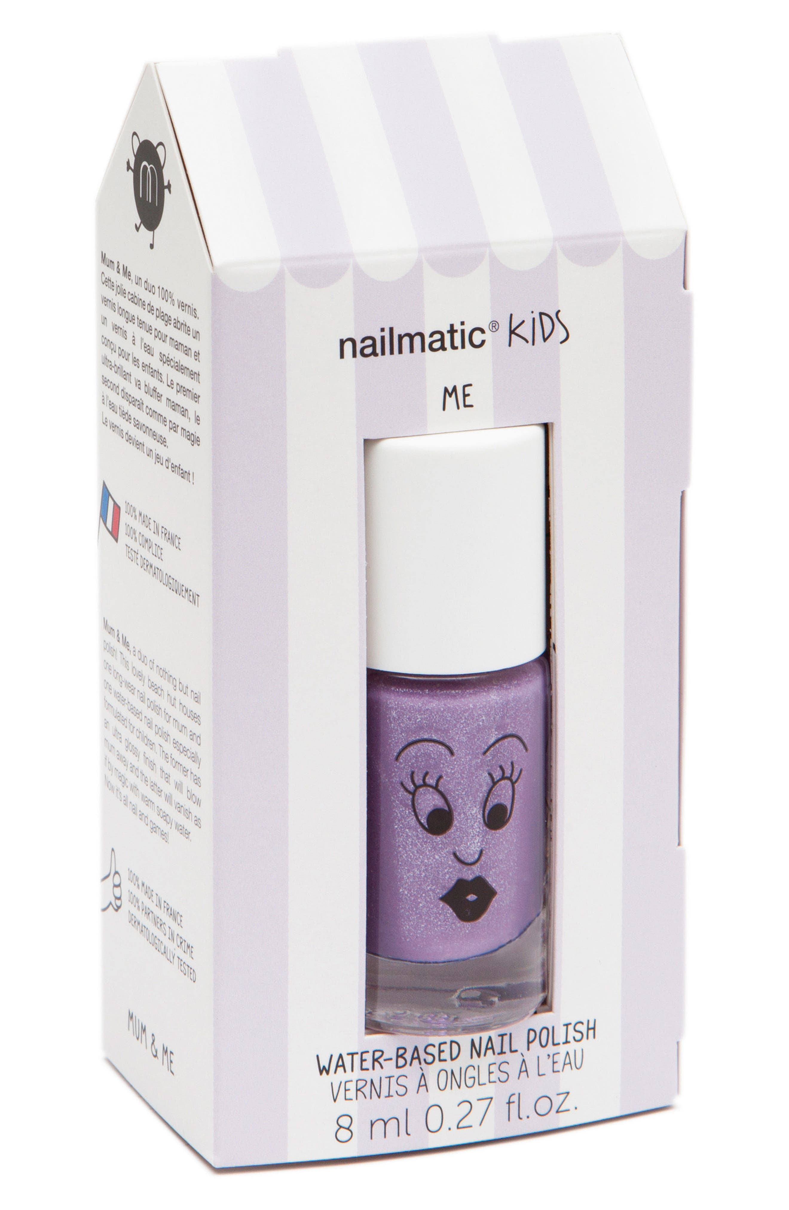Mum & Me Water-Based Nail Polish,                             Main thumbnail 1, color,                             Purple Asst