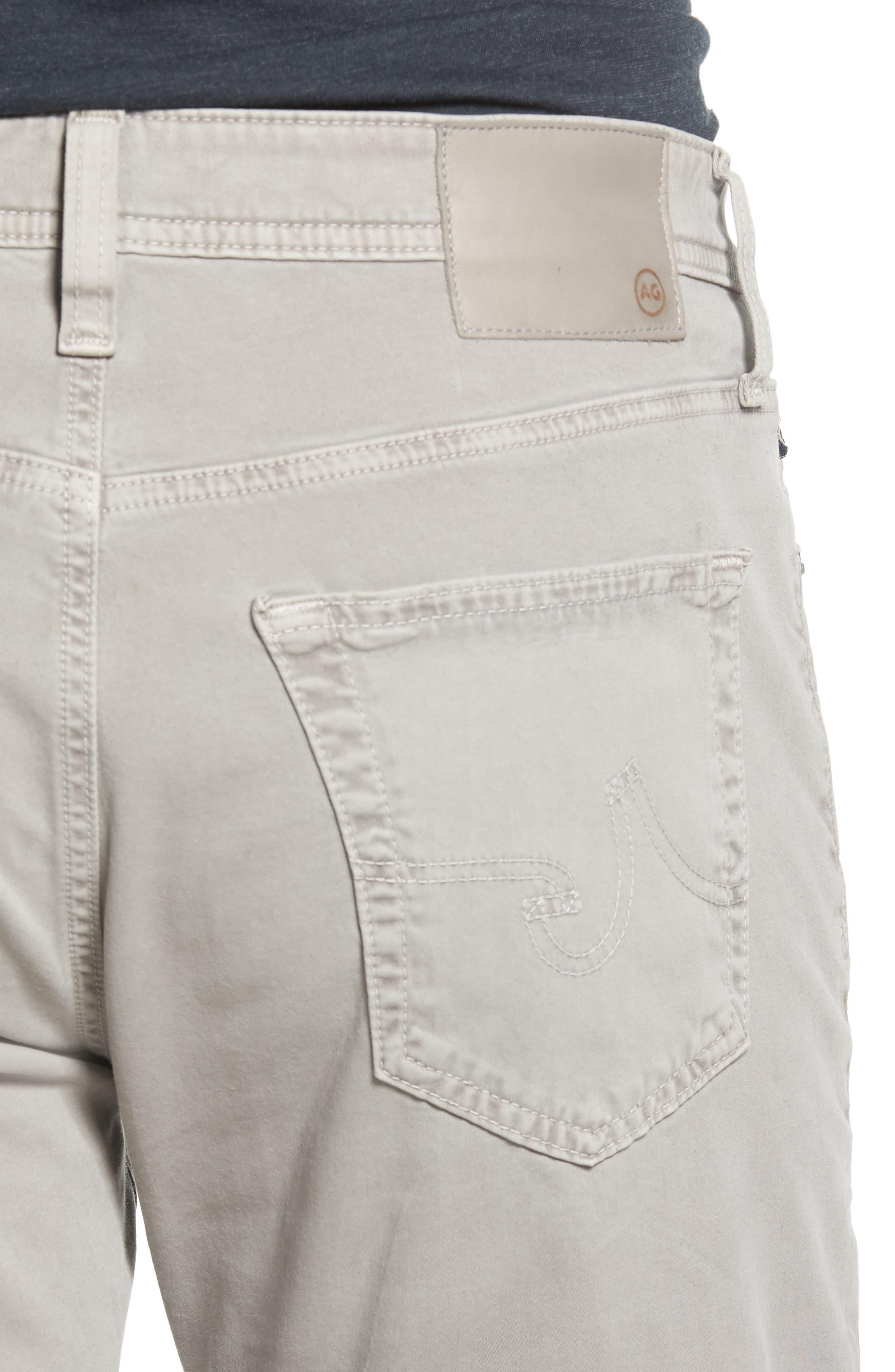 Everett SUD Slim Straight Fit Pants,                             Alternate thumbnail 4, color,                             Sulfur Platinum