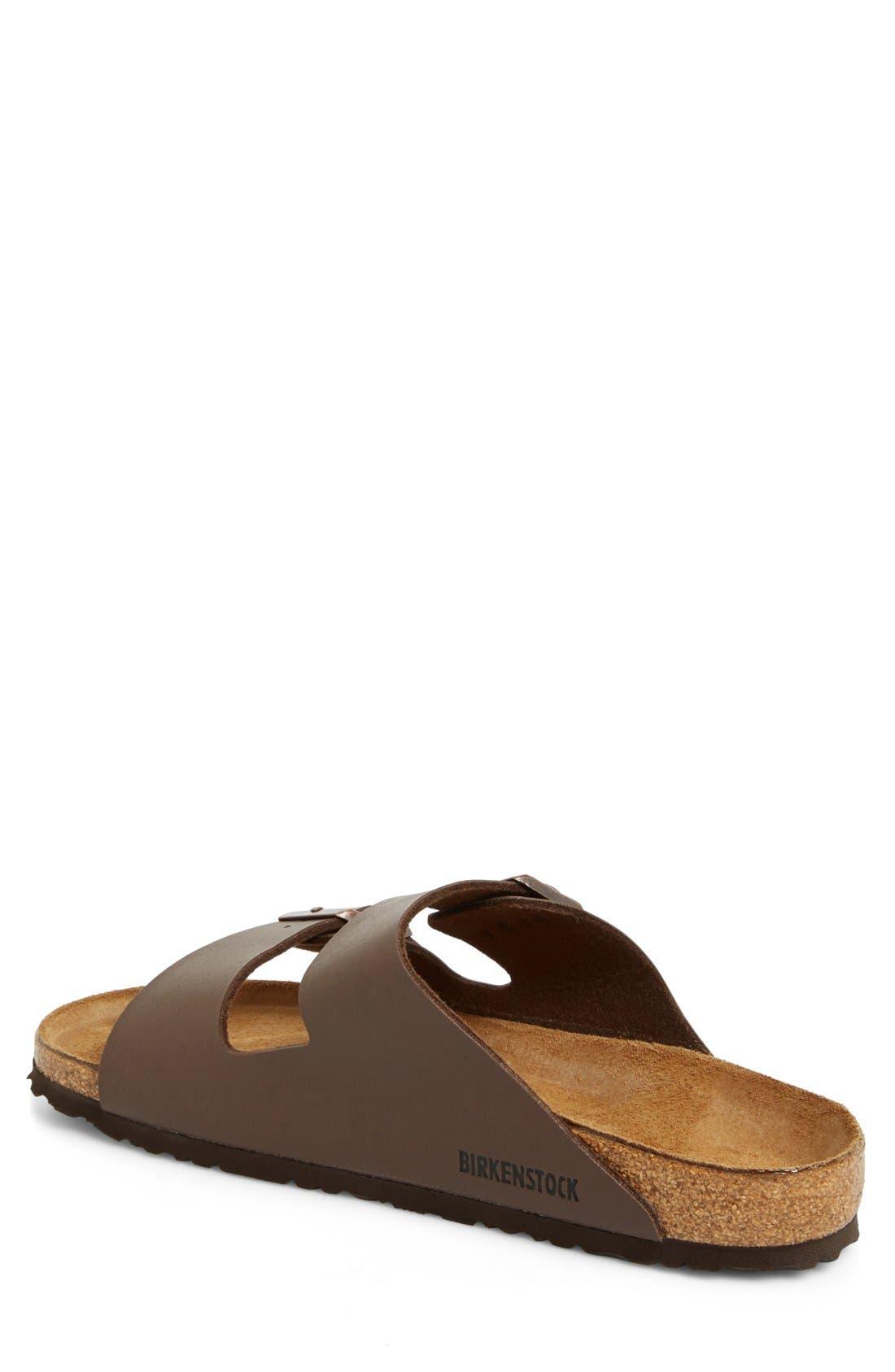 'Arizona' Slide Sandal,                             Alternate thumbnail 2, color,                             Dark Brown