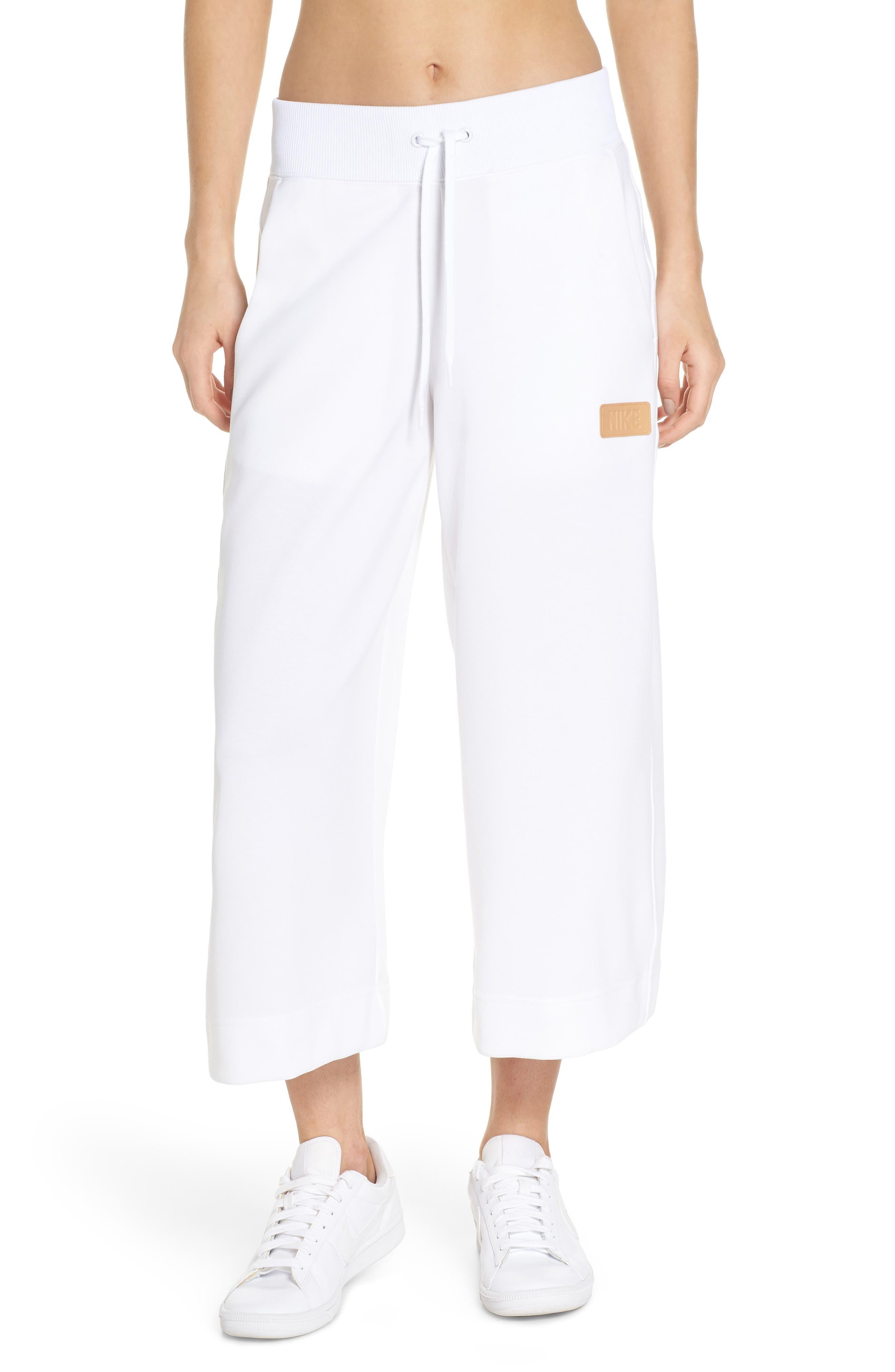 Sportswear Beautiful x Powerful Crop Pants,                             Main thumbnail 1, color,                             White