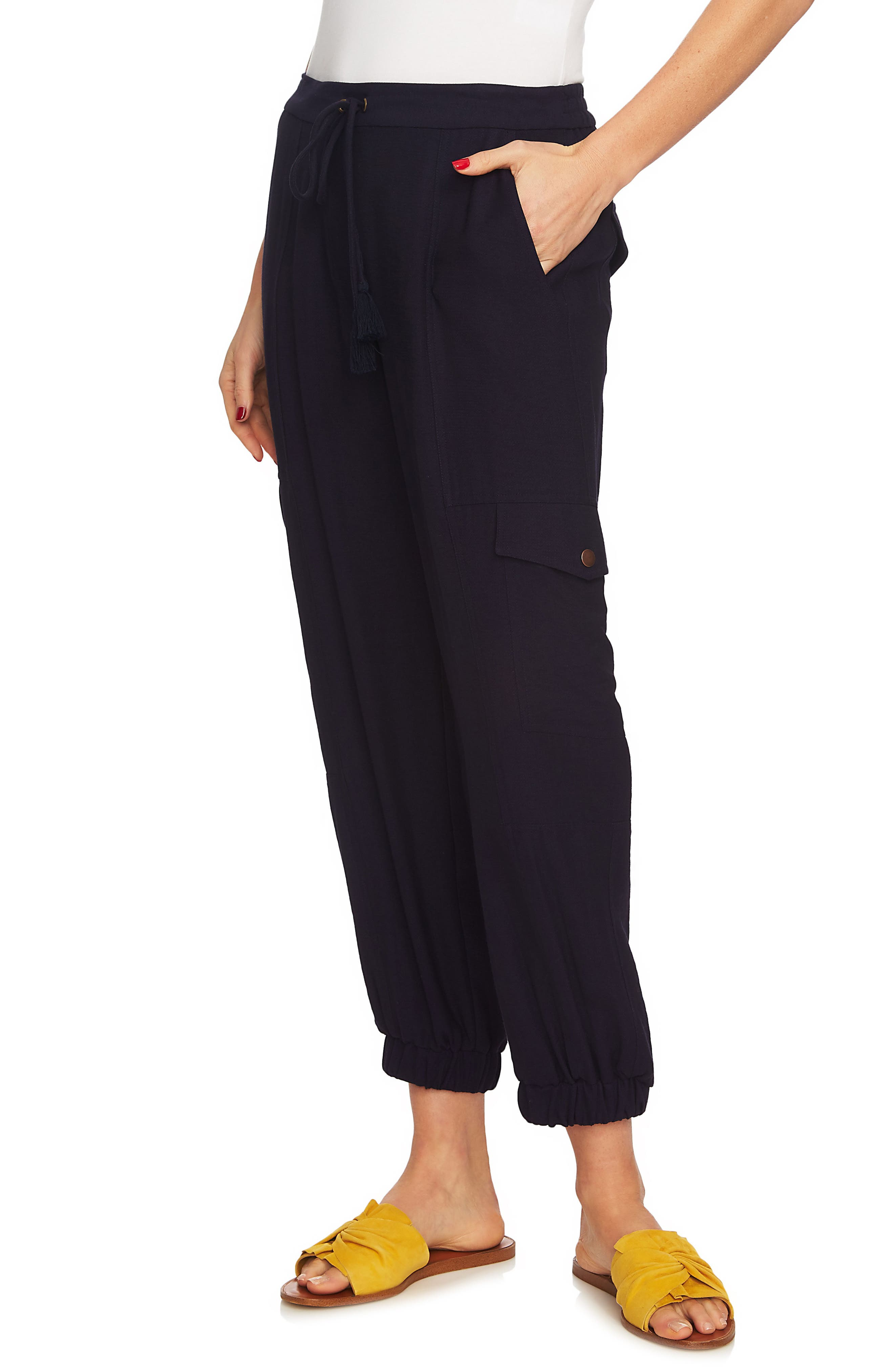 Flat Front Cargo Pants,                         Main,                         color, Night Navy