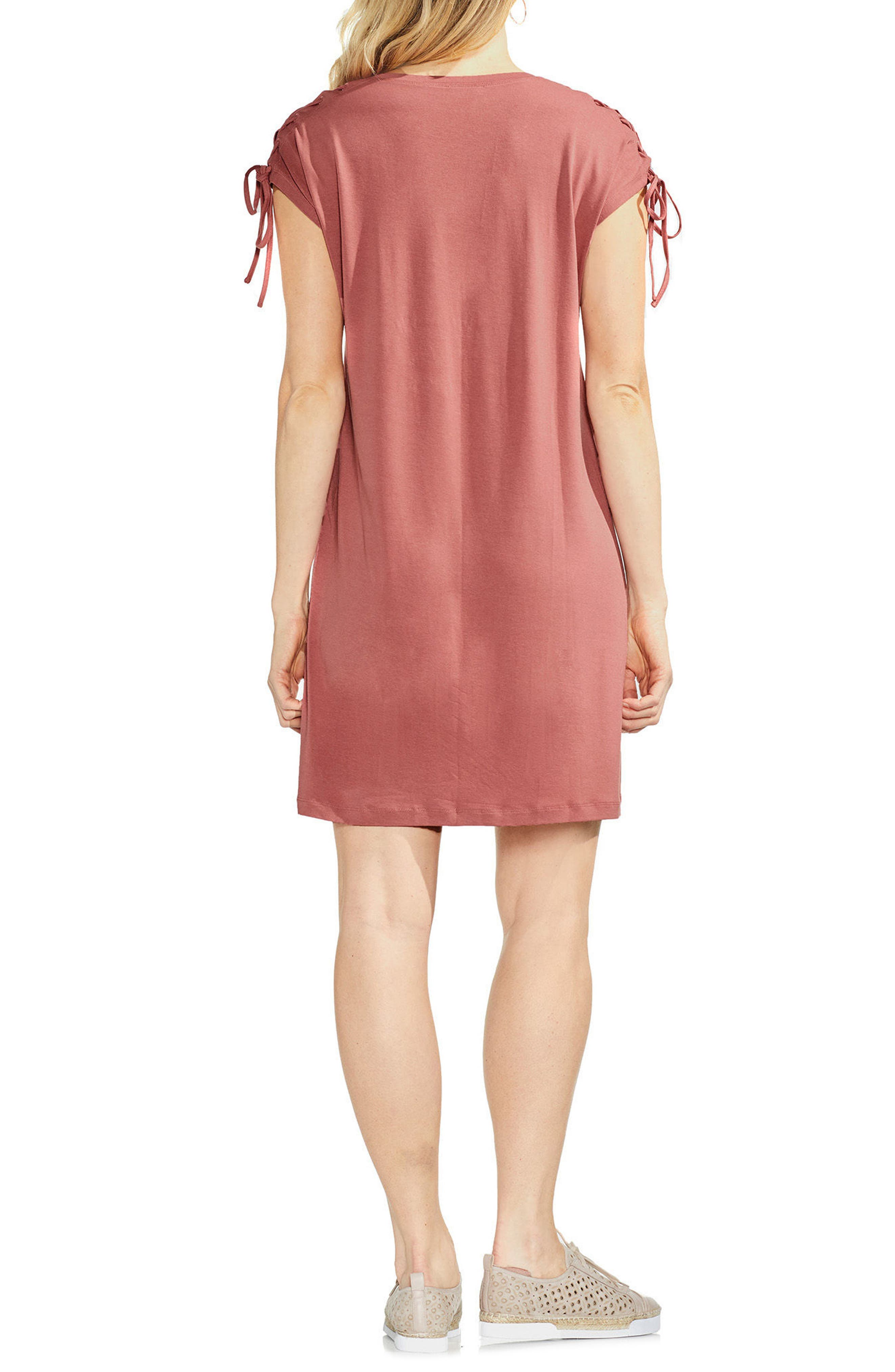 Lace-Up Shoulder Dress,                             Alternate thumbnail 2, color,                             Claret Shadow