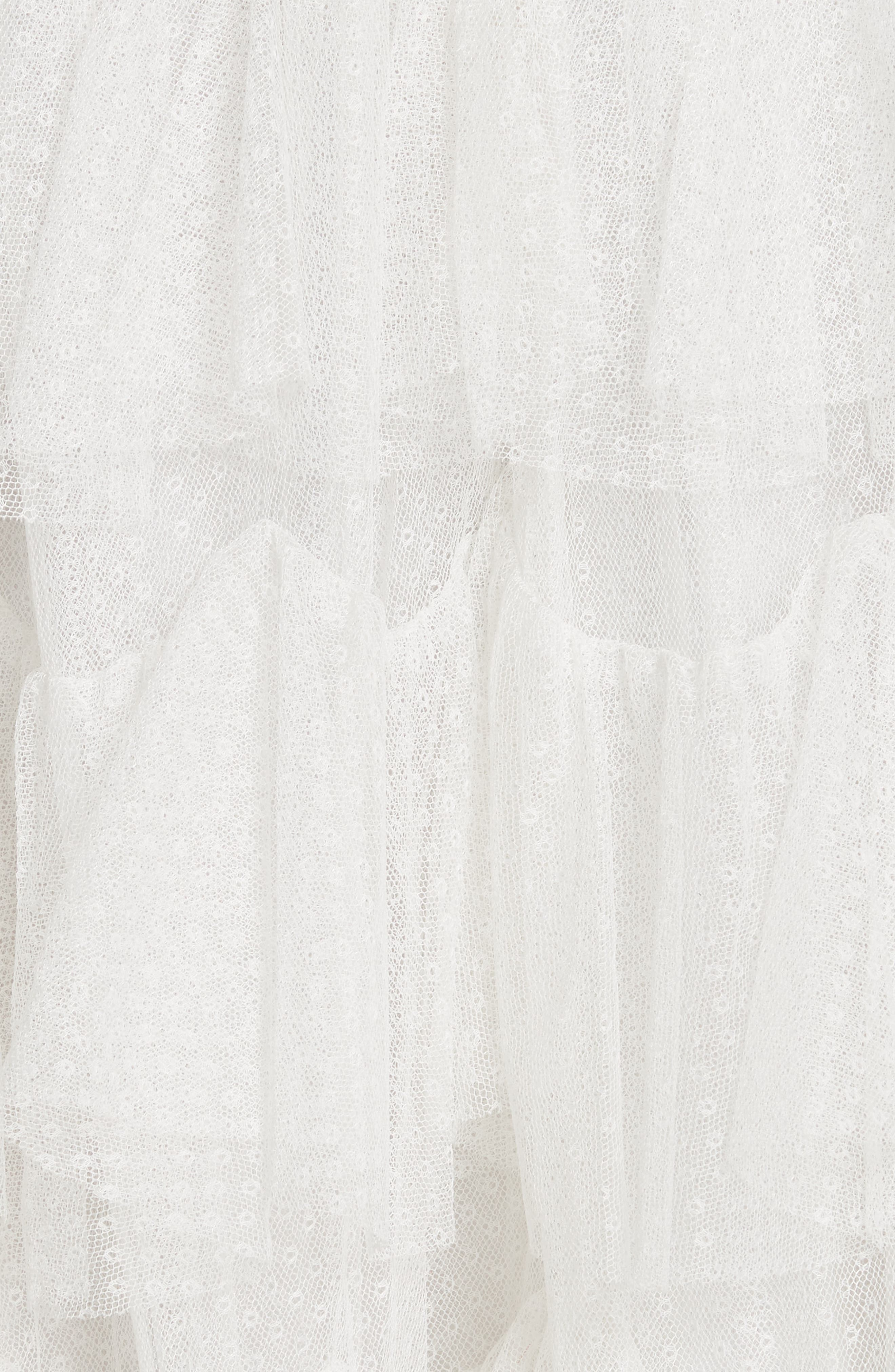Tiered Tulle Skirt,                             Alternate thumbnail 5, color,                             Pearl