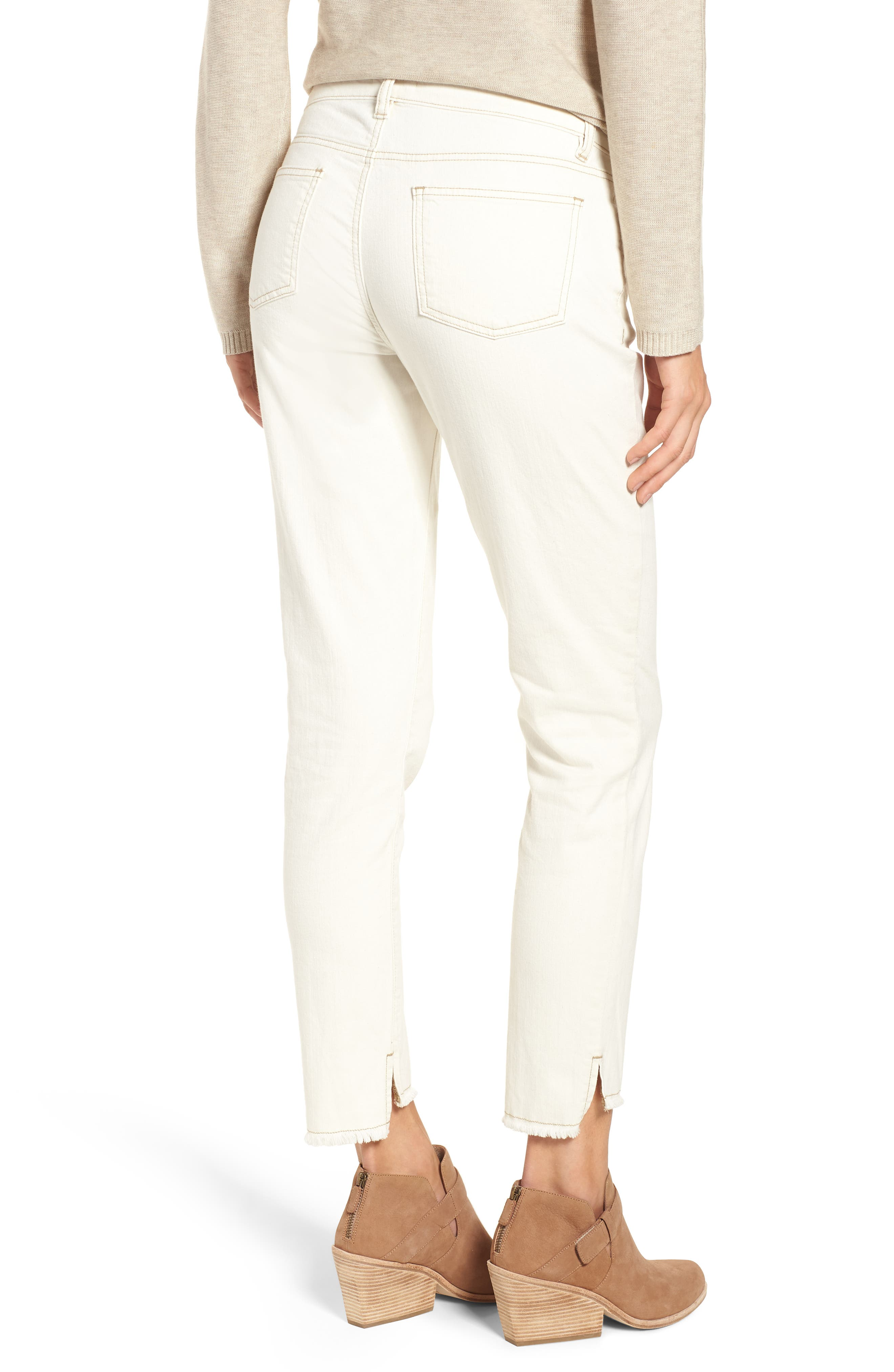 Stretch Organic Cotton Slim Ankle Jeans,                             Alternate thumbnail 2, color,                             Undyed Natural