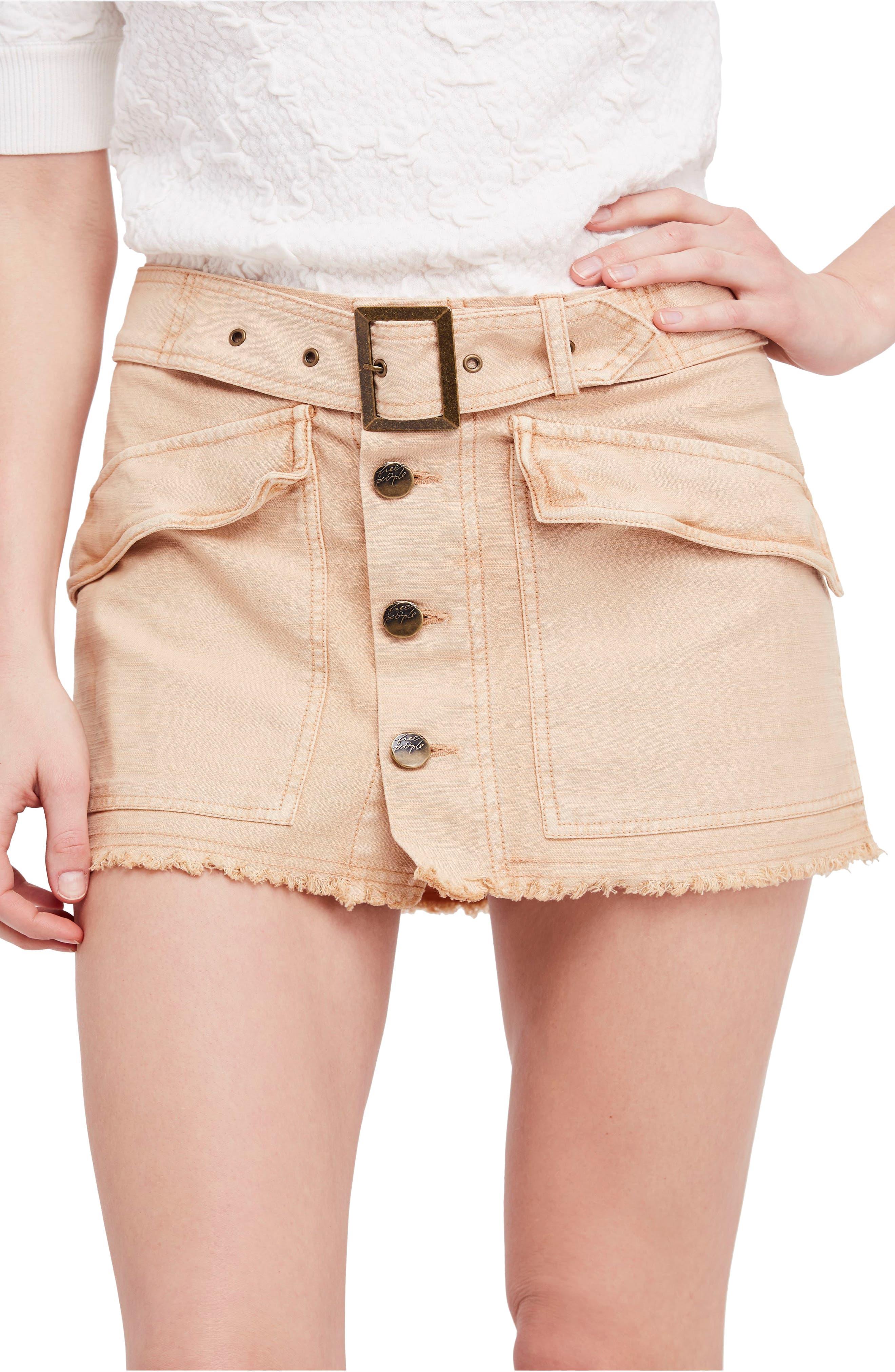 Hangin' On Tight Miniskirt,                             Main thumbnail 1, color,                             Nude