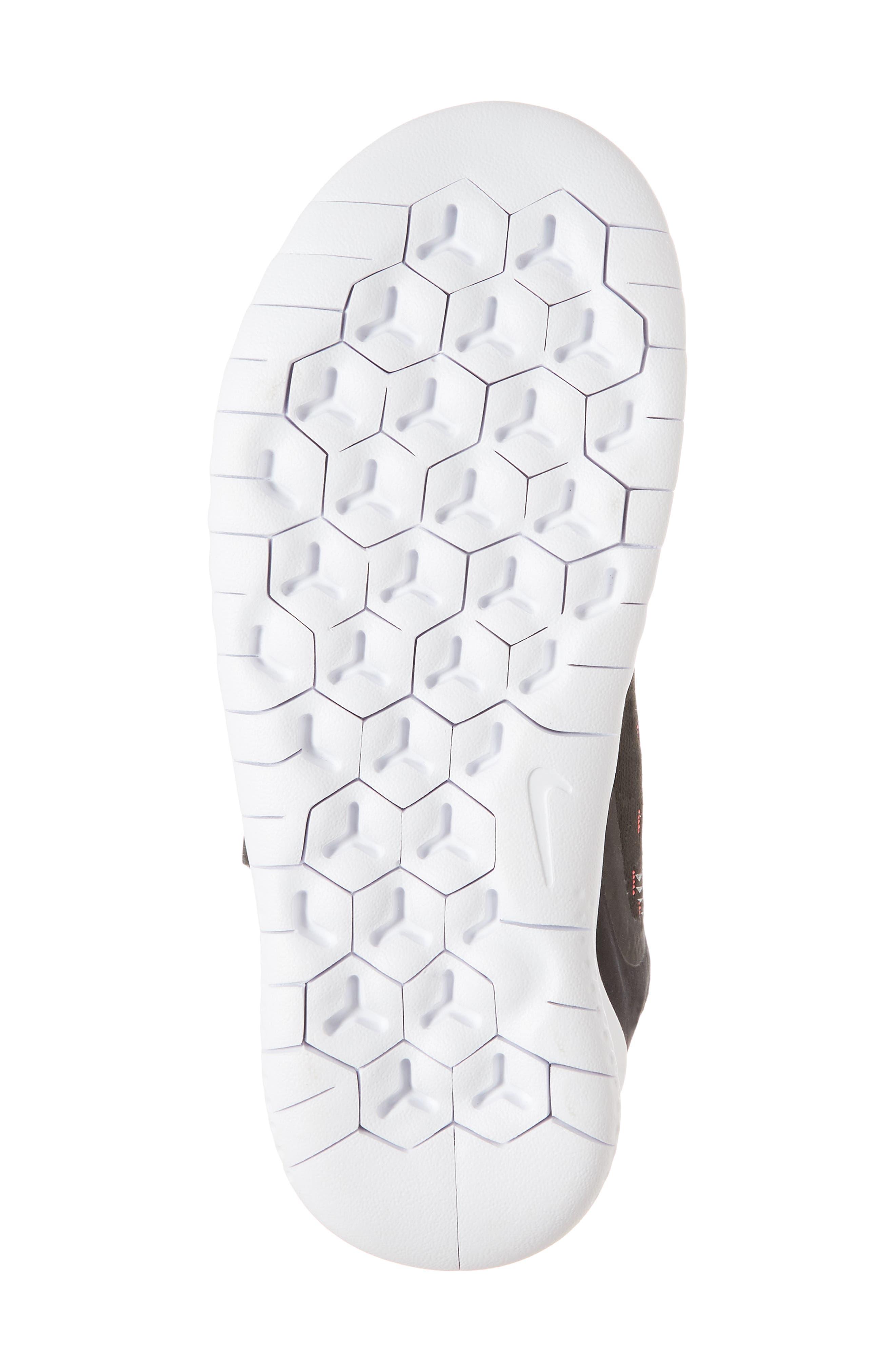 Free RN Running Shoe,                             Alternate thumbnail 6, color,                             Black/ White/ Pink/ Volt