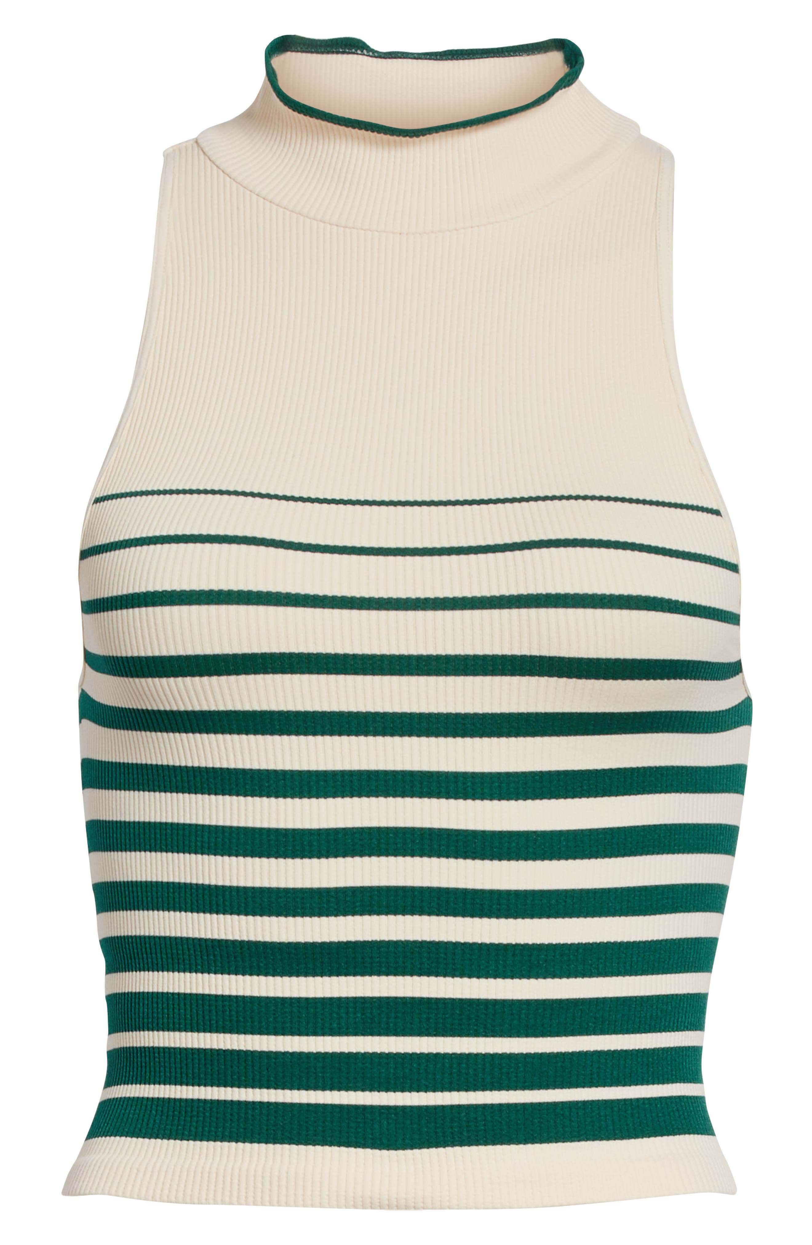 High Five Crop Tank,                             Alternate thumbnail 6, color,                             Ivory