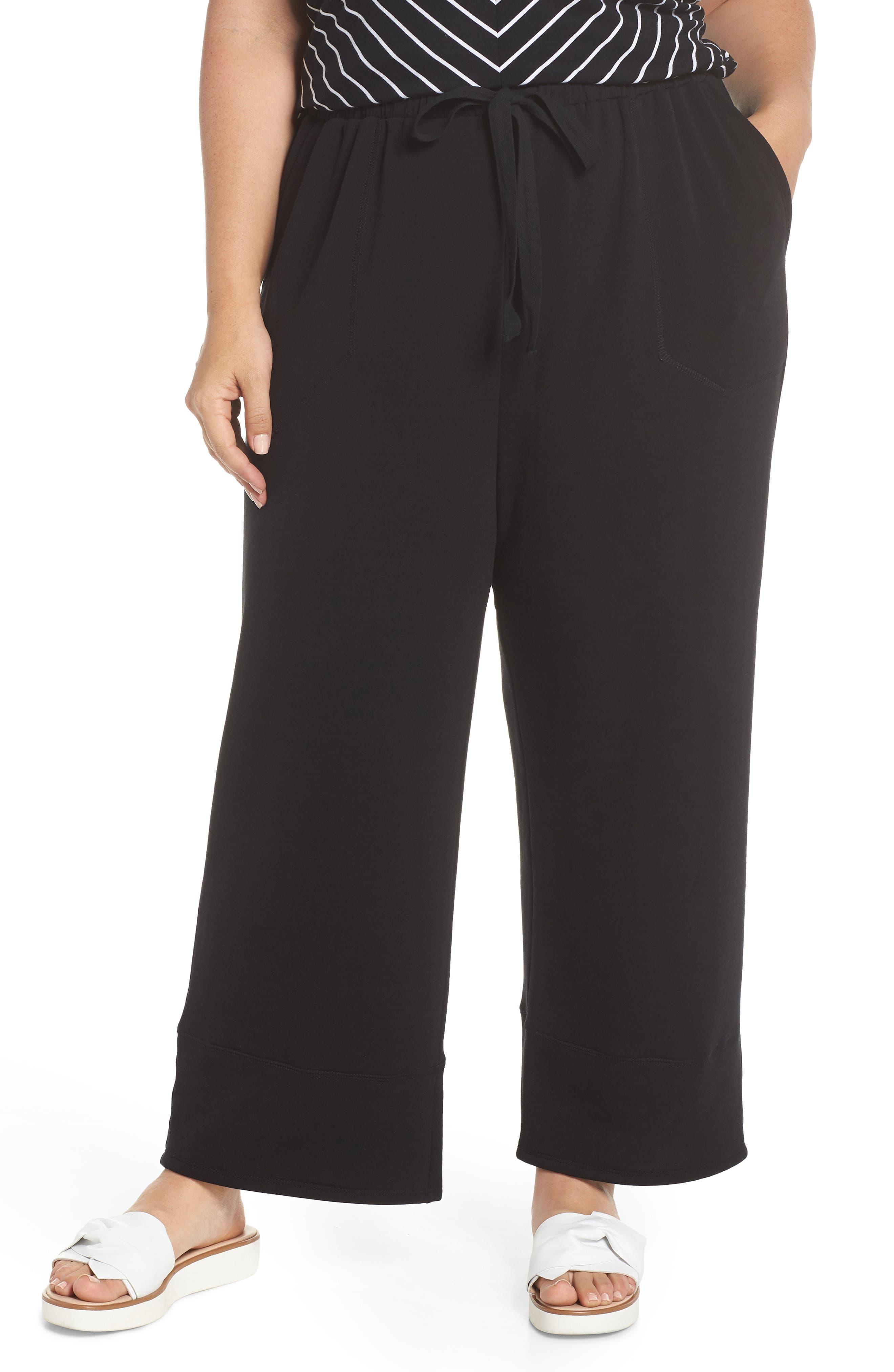 Caslon® Off Duty Easy Drawstring Pants (Plus Size)