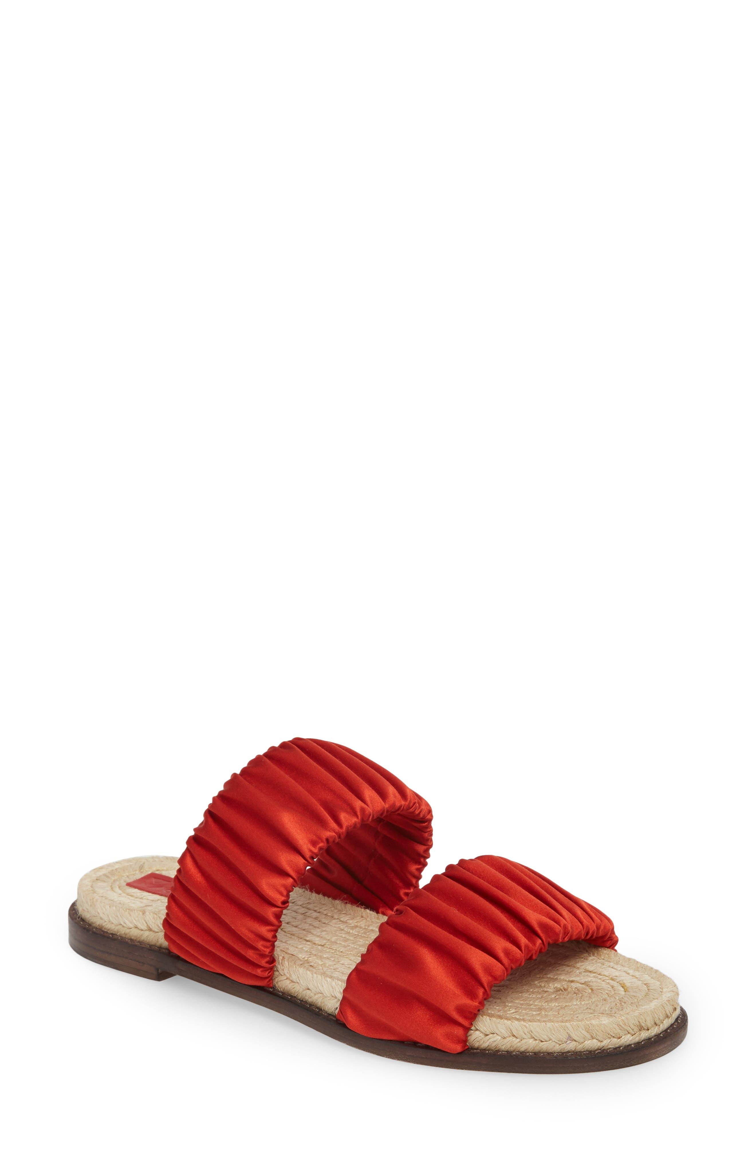 Espadrille Sandal,                         Main,                         color, Red Tulip