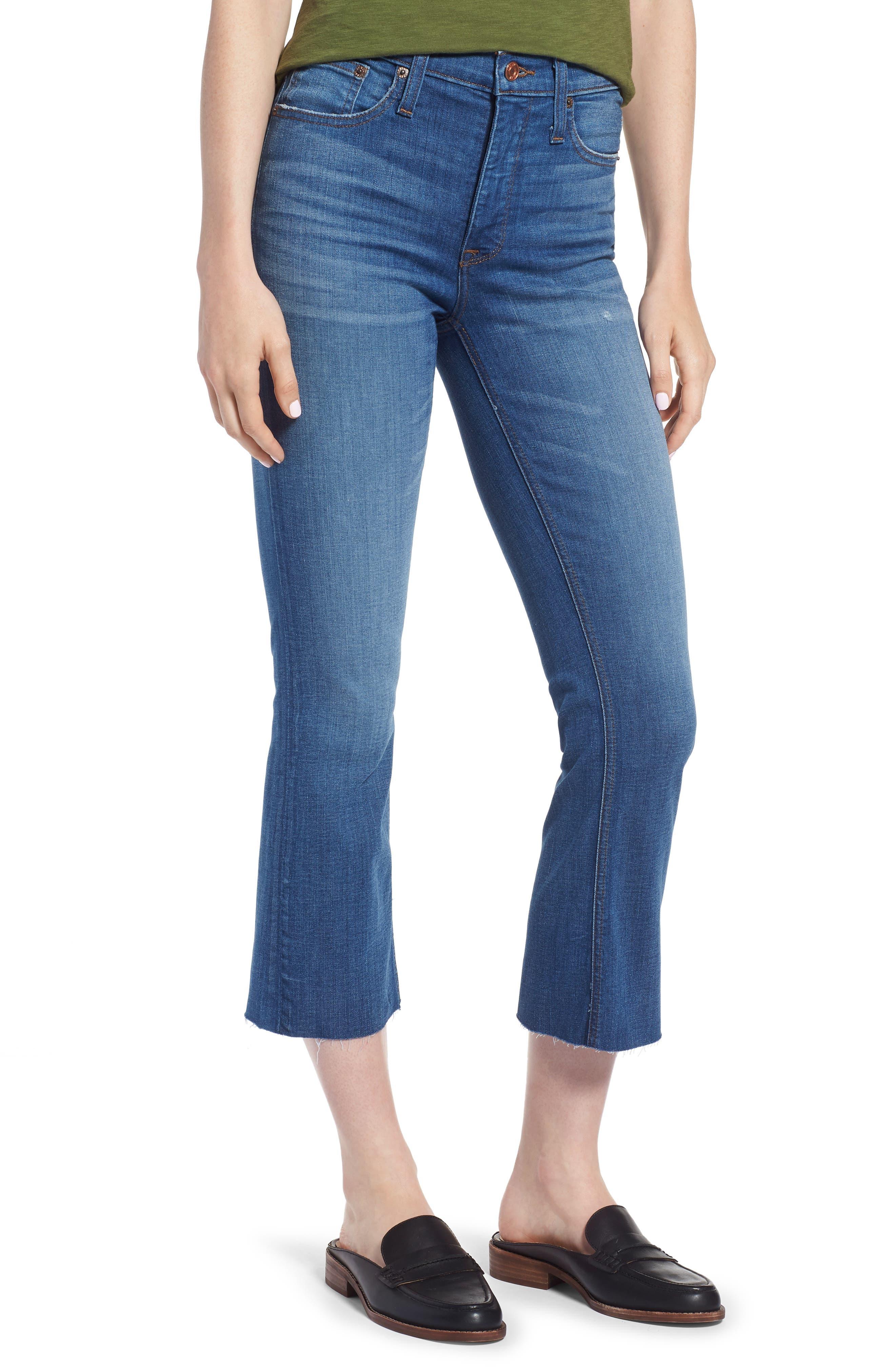 J.Crew Billie Demi-Bootcut Crop Jeans (Hemlock)