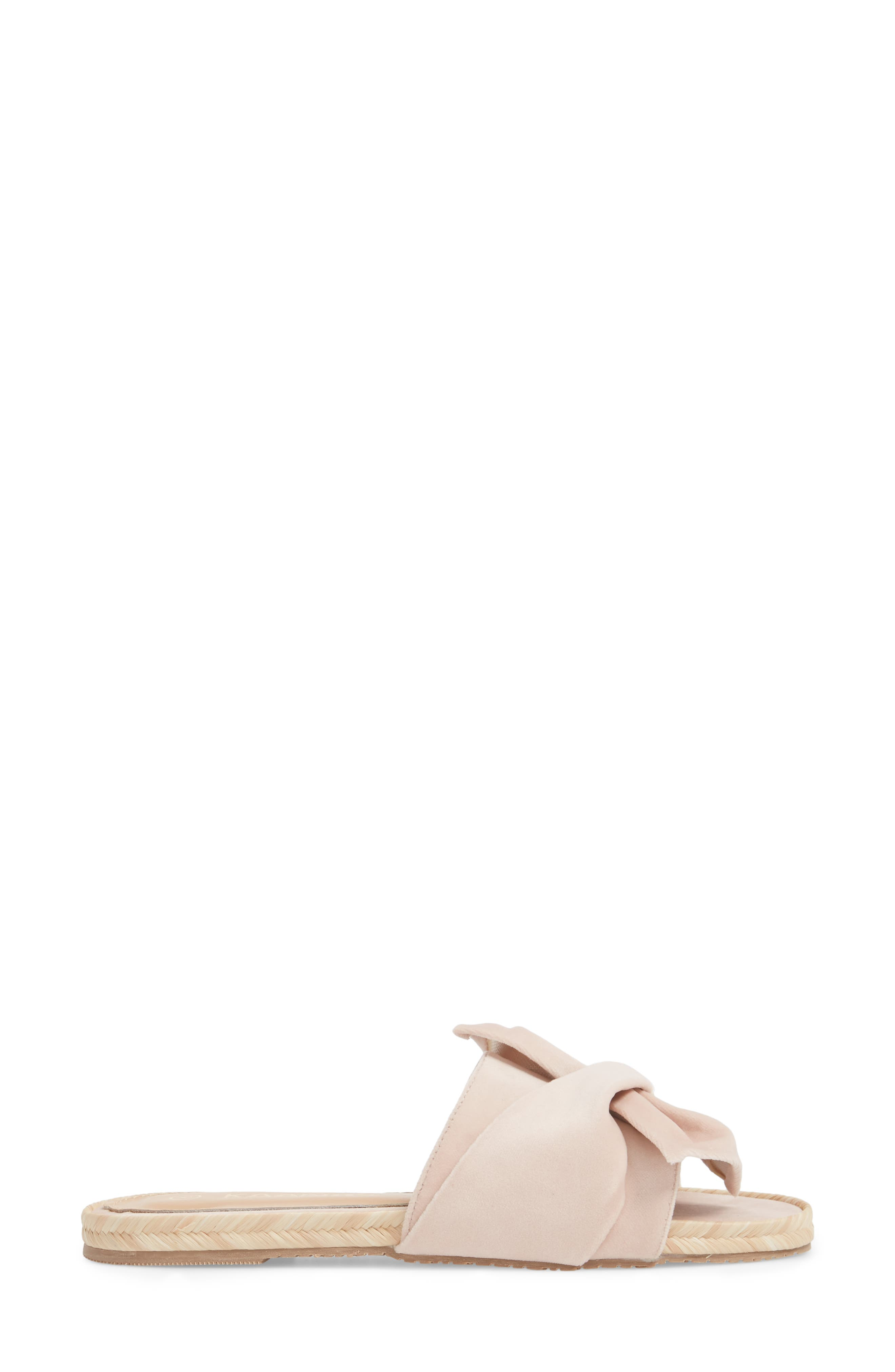 Sausalito Knotted Slide Sandal,                             Alternate thumbnail 3, color,                             Nude