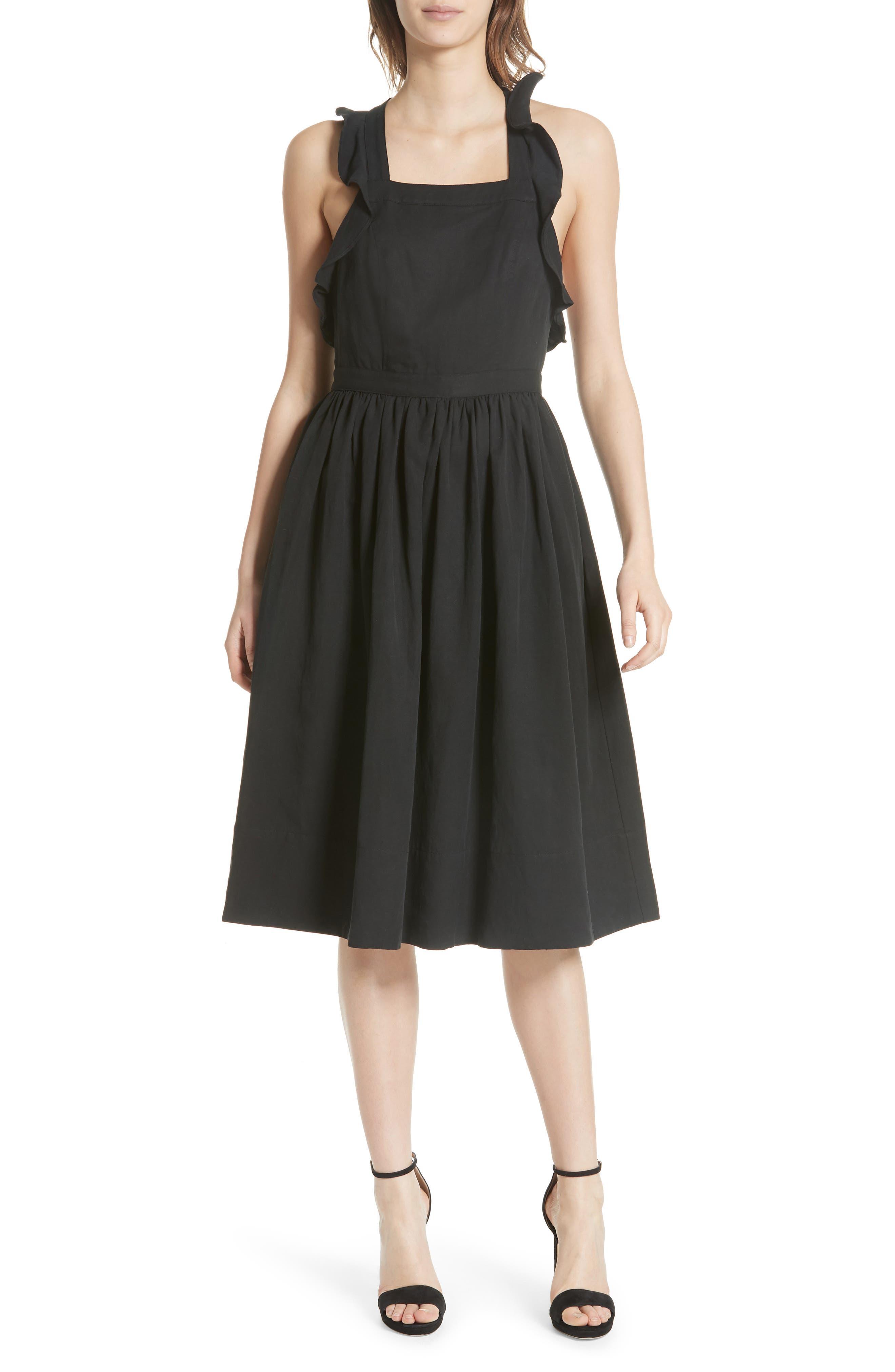 Willa Pinafore Dress,                             Main thumbnail 1, color,                             Noir