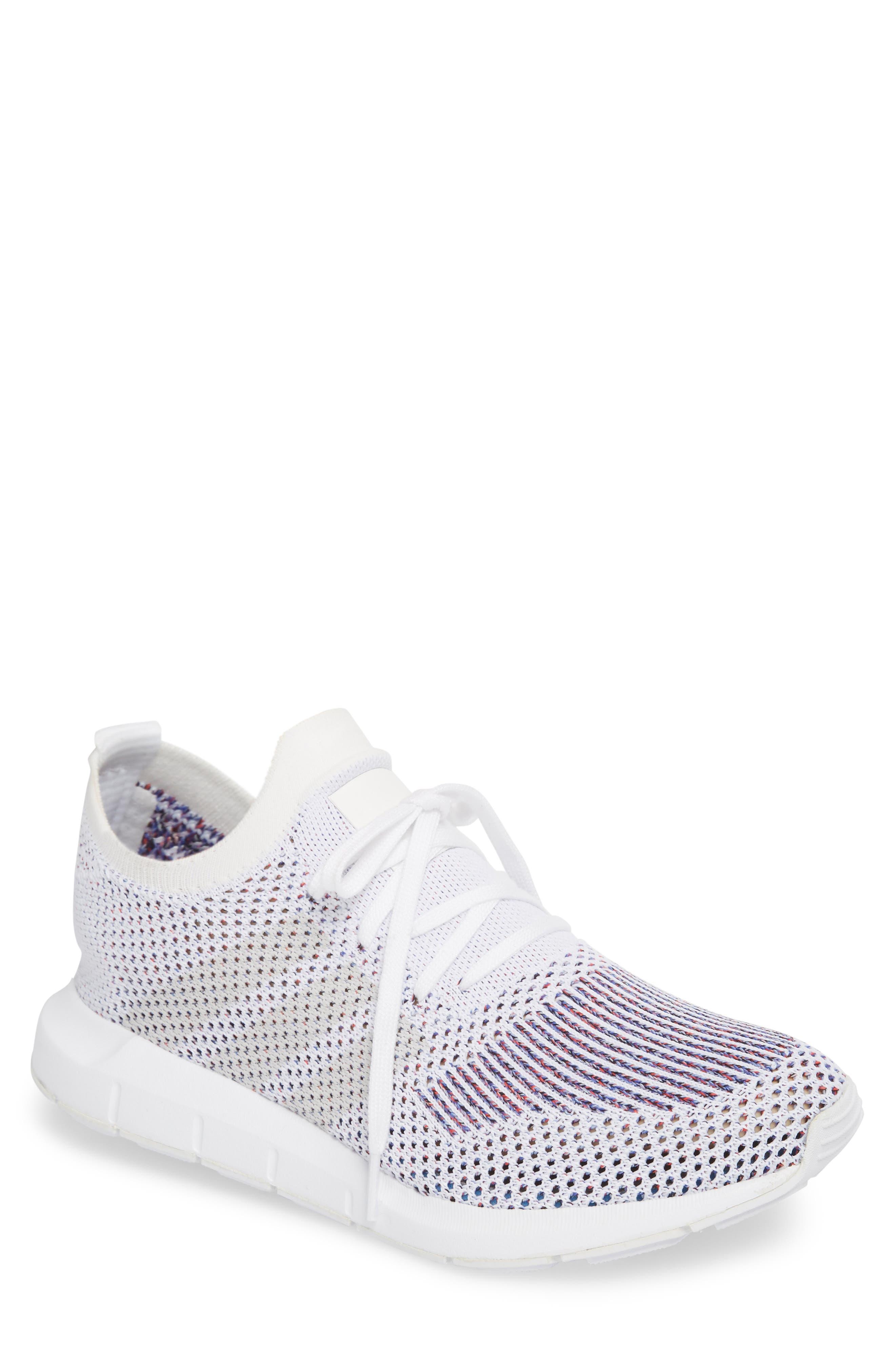Swift Run Primeknit Training Shoe,                         Main,                         color, White/ Grey Heather Grey