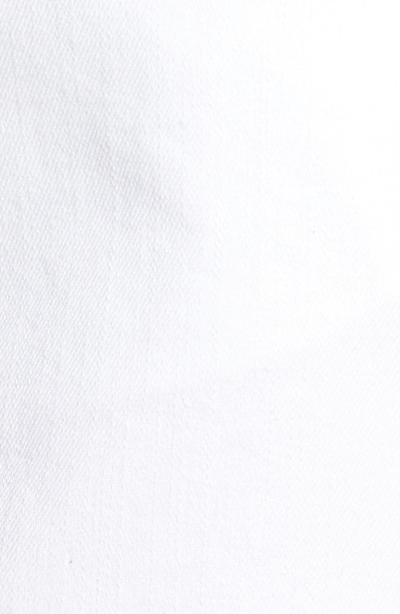 Social Fray Hem Denim Miniskirt,                             Alternate thumbnail 4, color,                             White