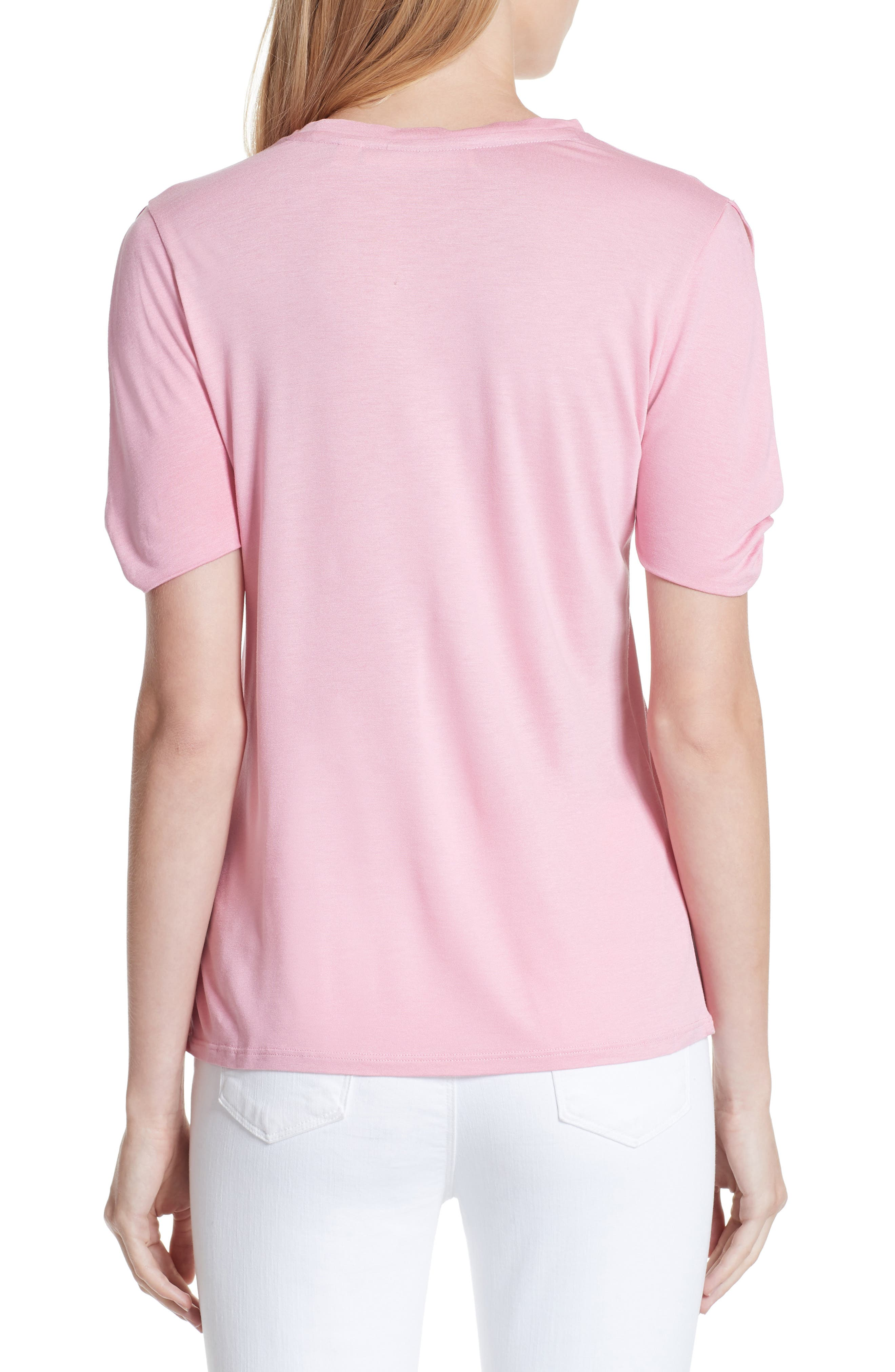 Narva Colour by Numbers Twist Cuff Shirt,                             Alternate thumbnail 2, color,                             Pink