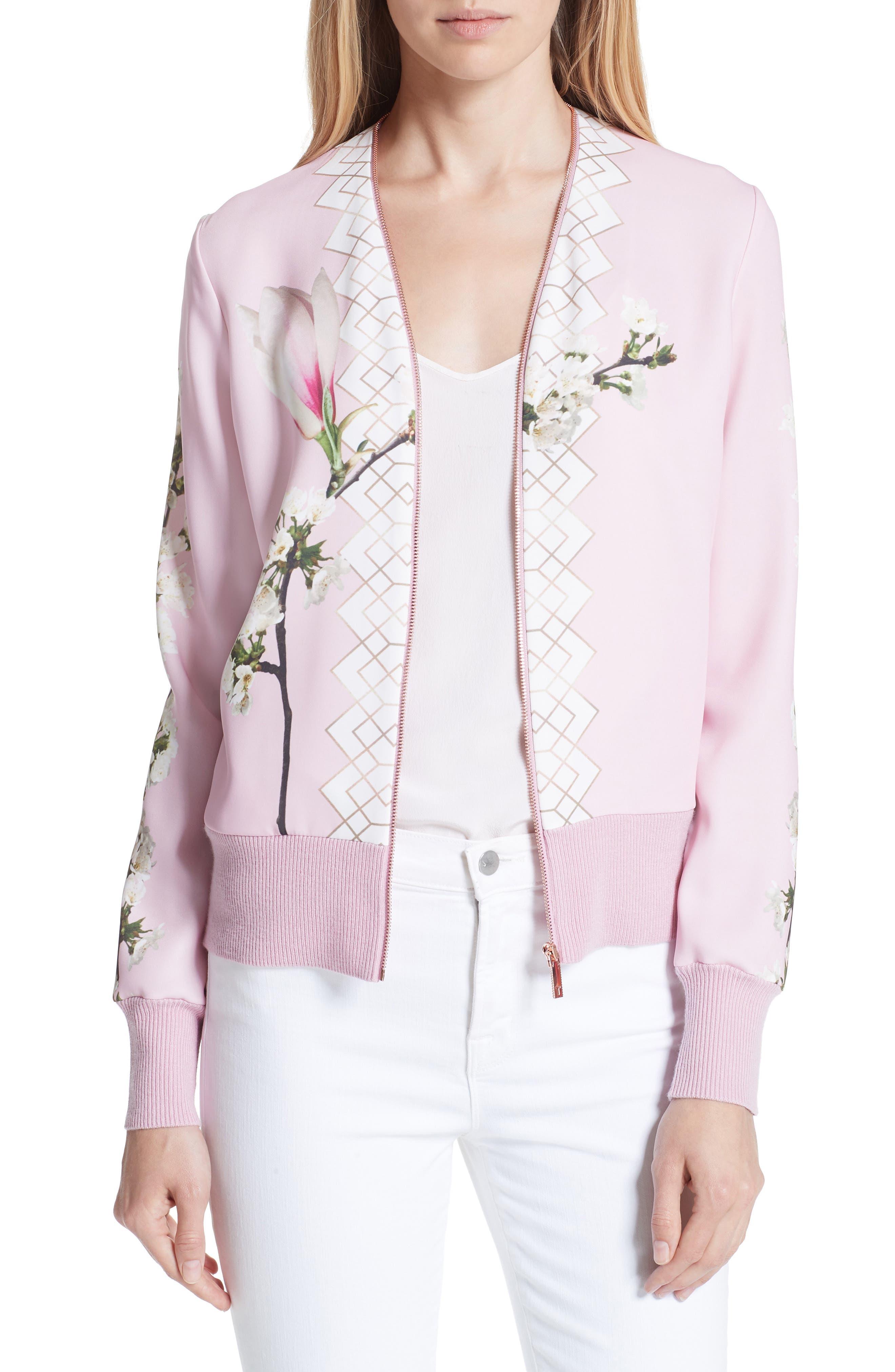 Emylou Harmony Bomber Jacket,                             Main thumbnail 1, color,                             Pale Pink