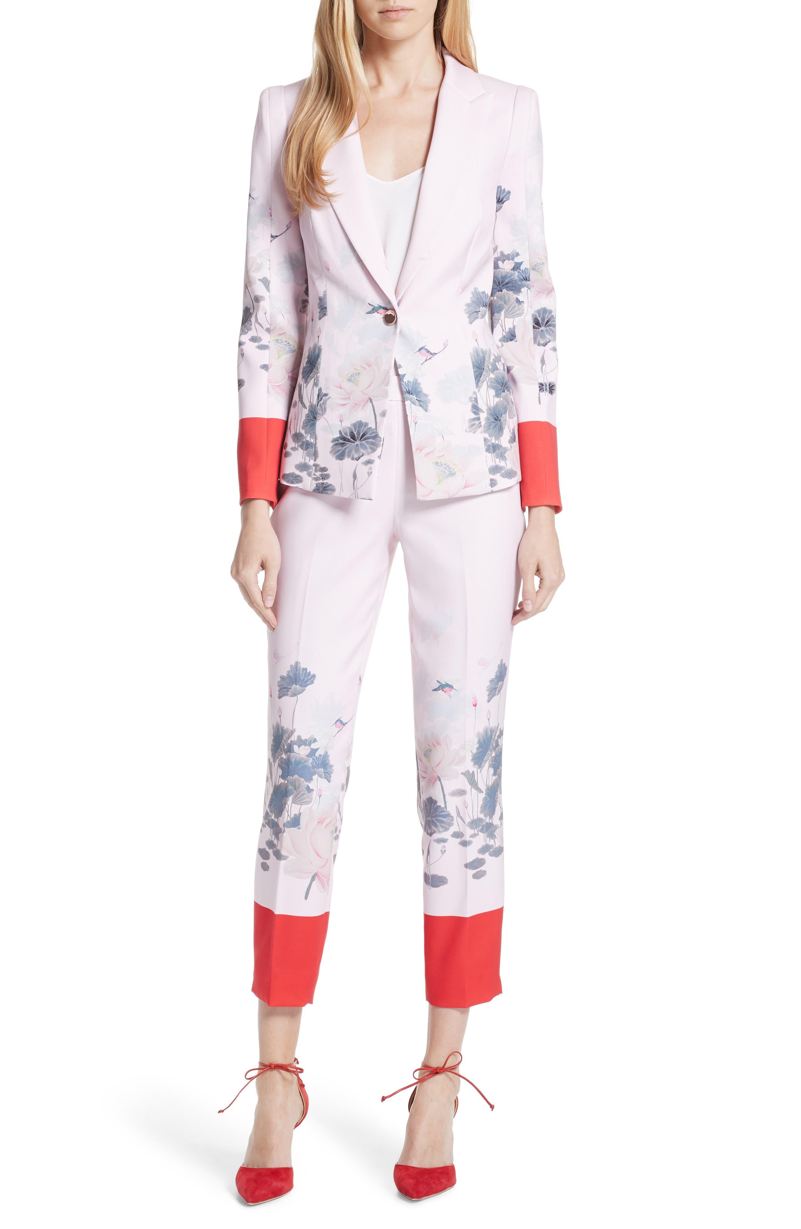 Naimh Lake of Dreams Tailored Jacket,                             Alternate thumbnail 7, color,                             Pink