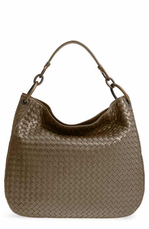 fe6a12d5fabb Bottega Veneta Large Loop Woven Leather Hobo