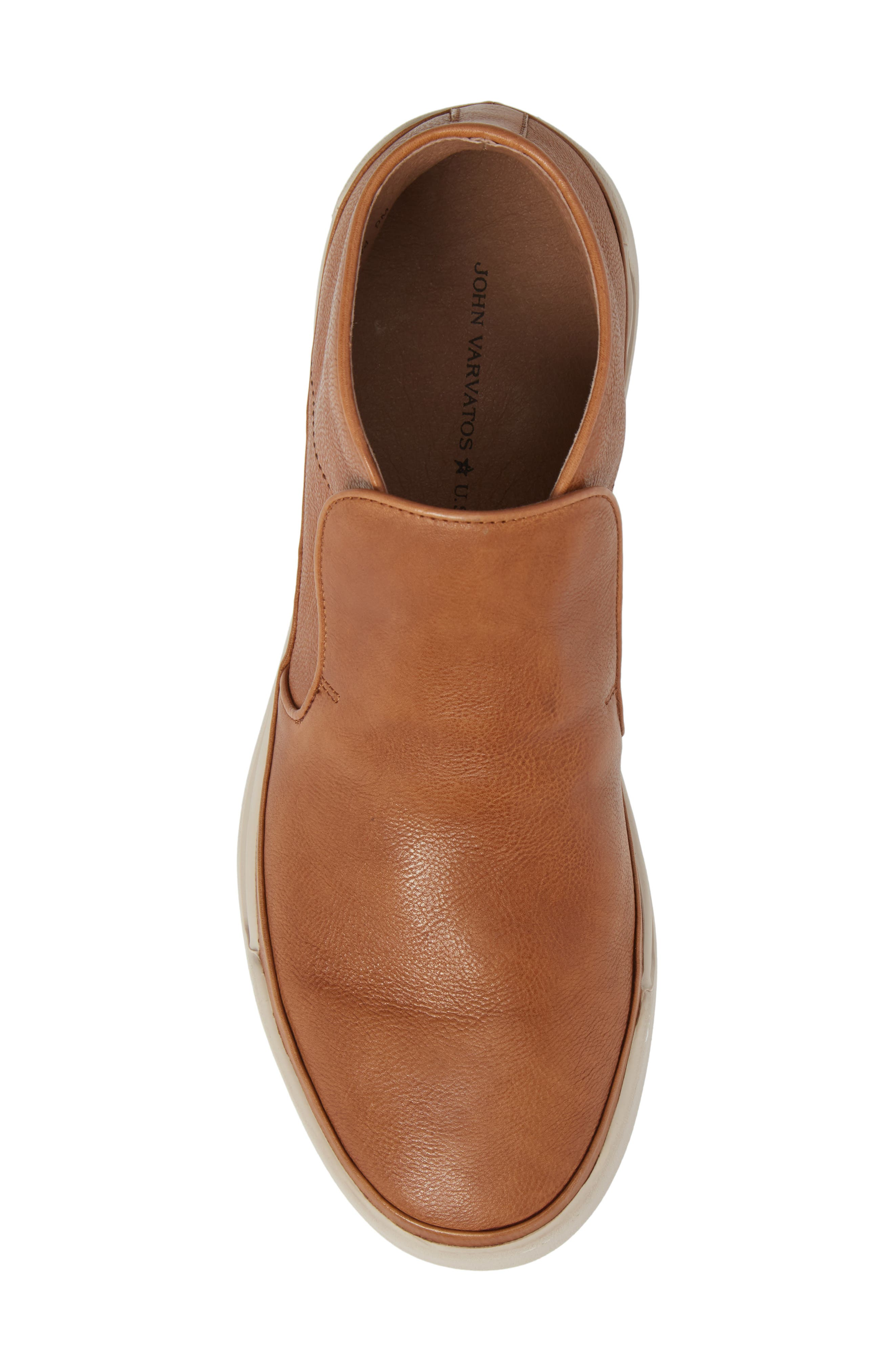 John Varvatos Star USA Remy Slip-On,                             Alternate thumbnail 5, color,                             Caramel Leather