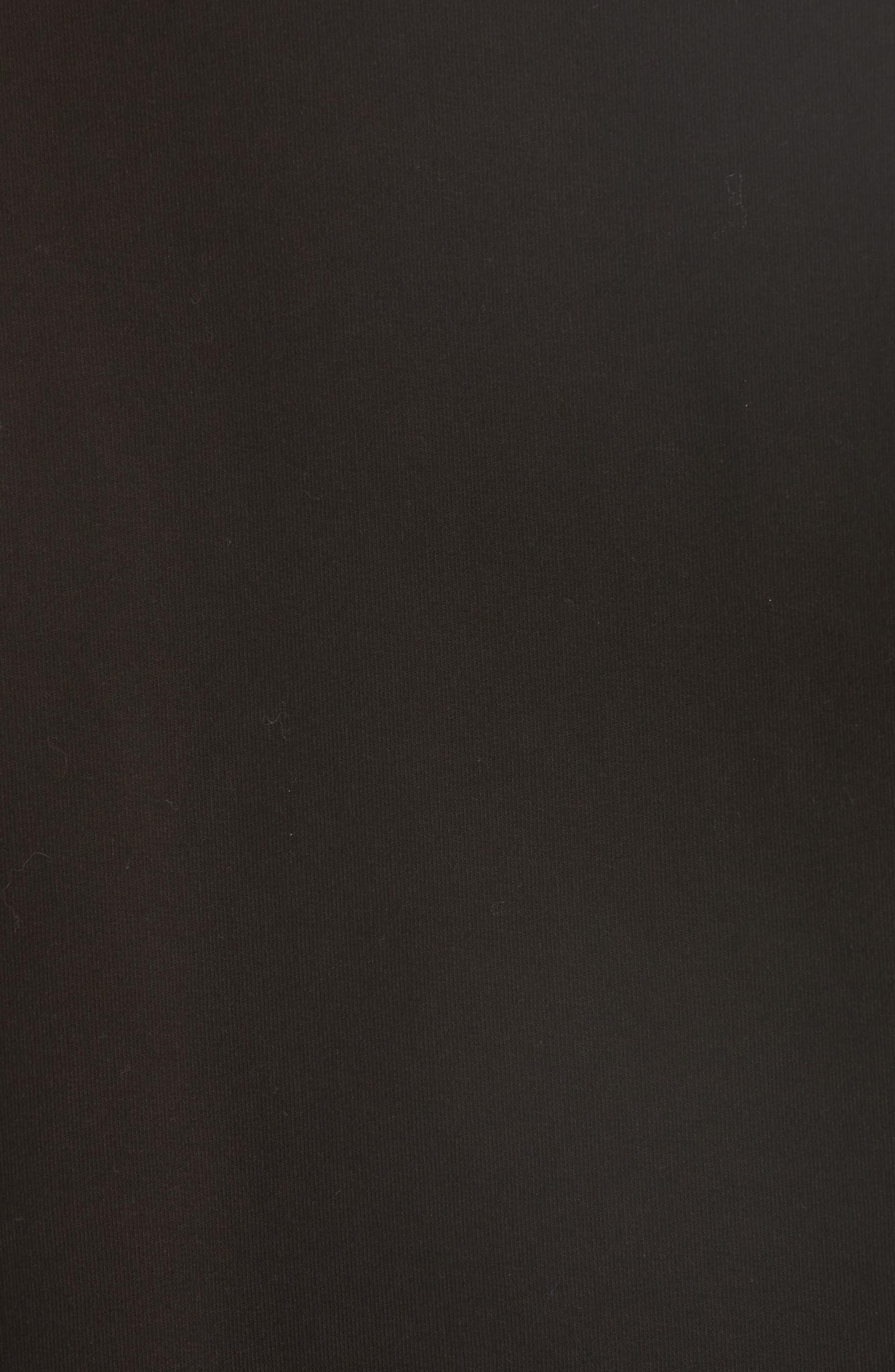 Tulle Sleeve Sweatshirt,                             Alternate thumbnail 5, color,                             Black