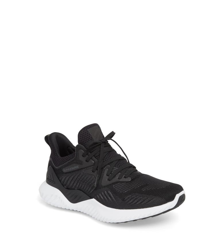 meet ce616 49474 ADIDAS ORIGINALS ALPHABOUNCE BEYOND KNIT RUNNING SHOE, CORE BLACK  WHITE