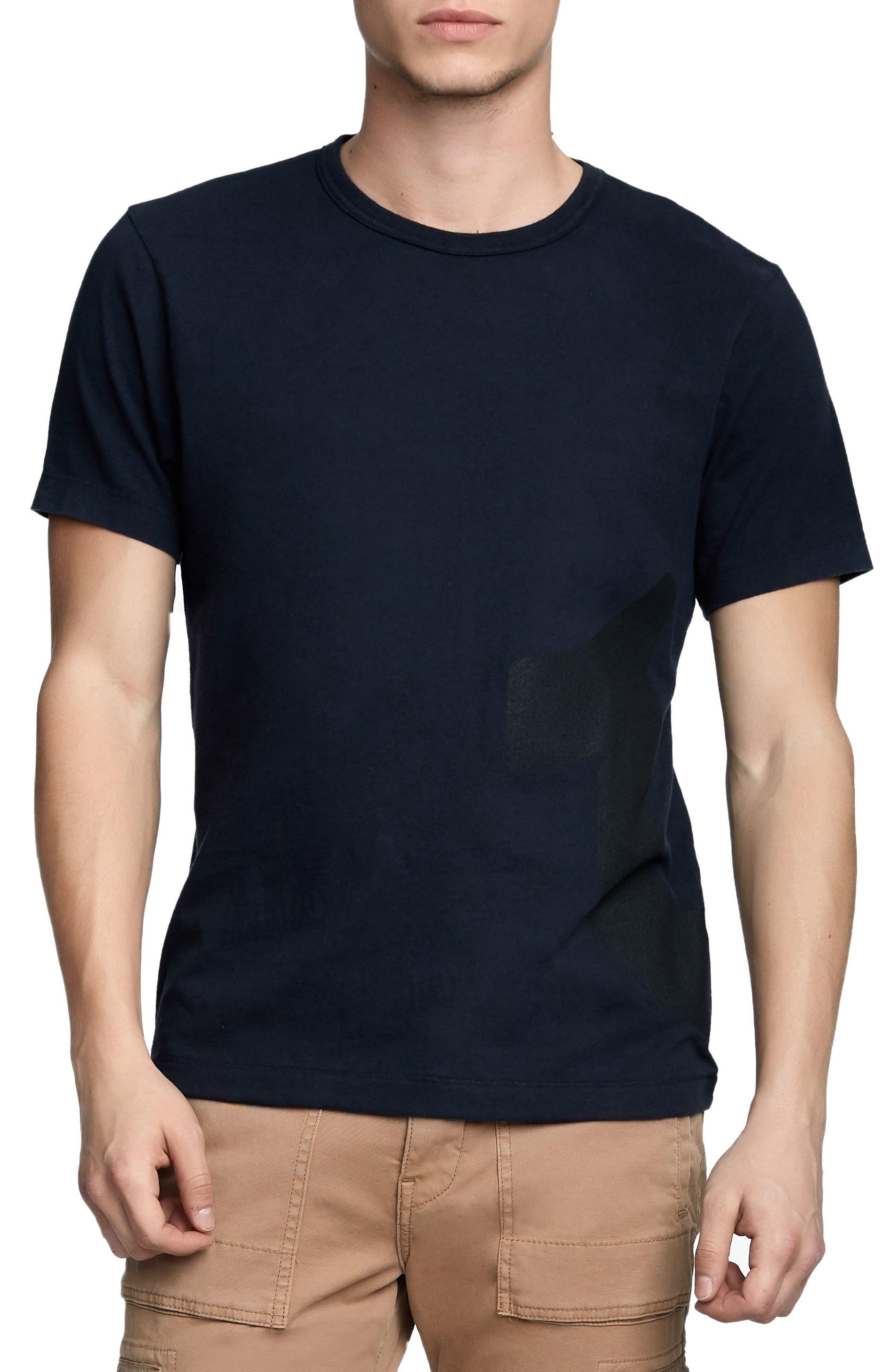 Printed Mesh Logo T-Shirt,                             Main thumbnail 1, color,                             True Black