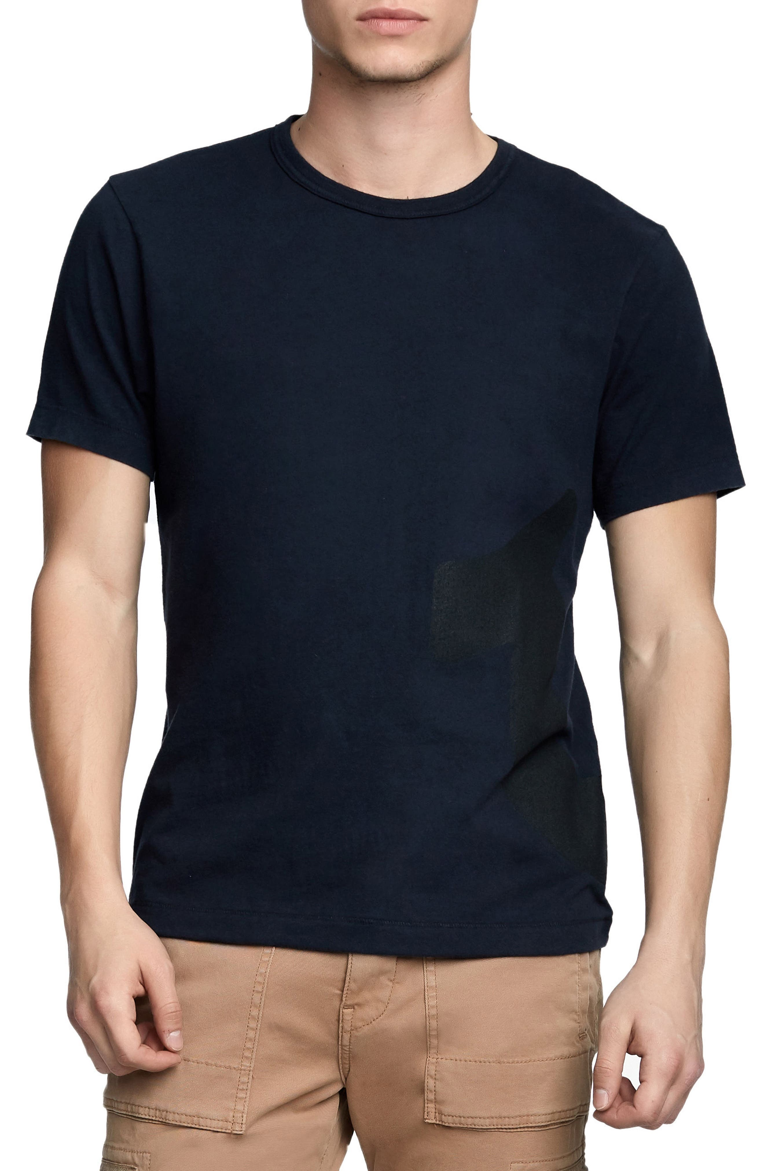 Printed Mesh Logo T-Shirt,                         Main,                         color, True Black