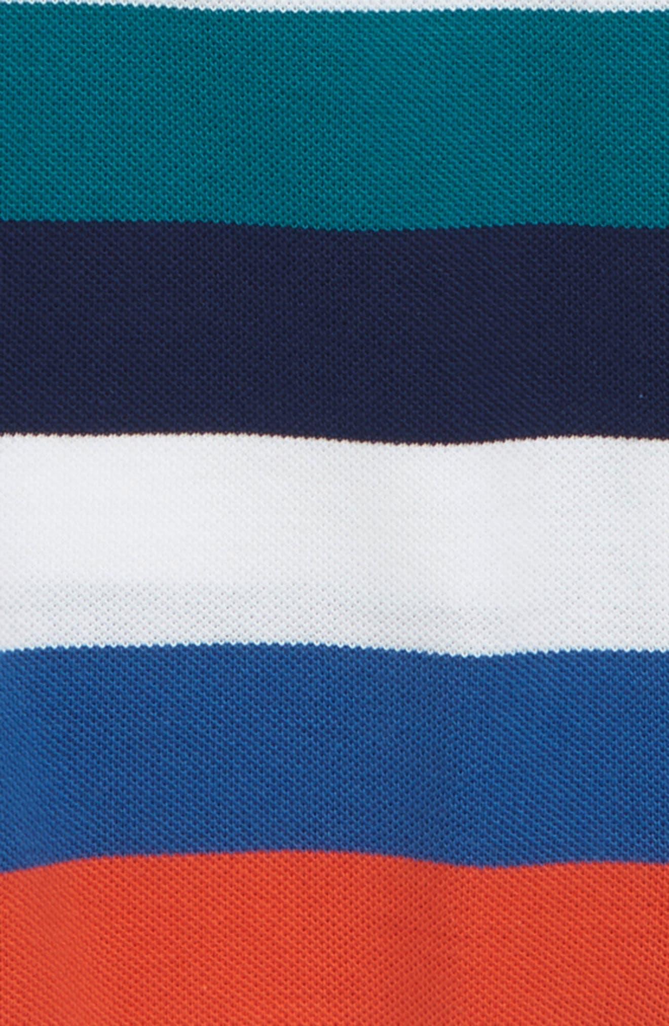 Multicolor Stripe Polo,                             Alternate thumbnail 2, color,                             White/ Dragonfly/ Maritime