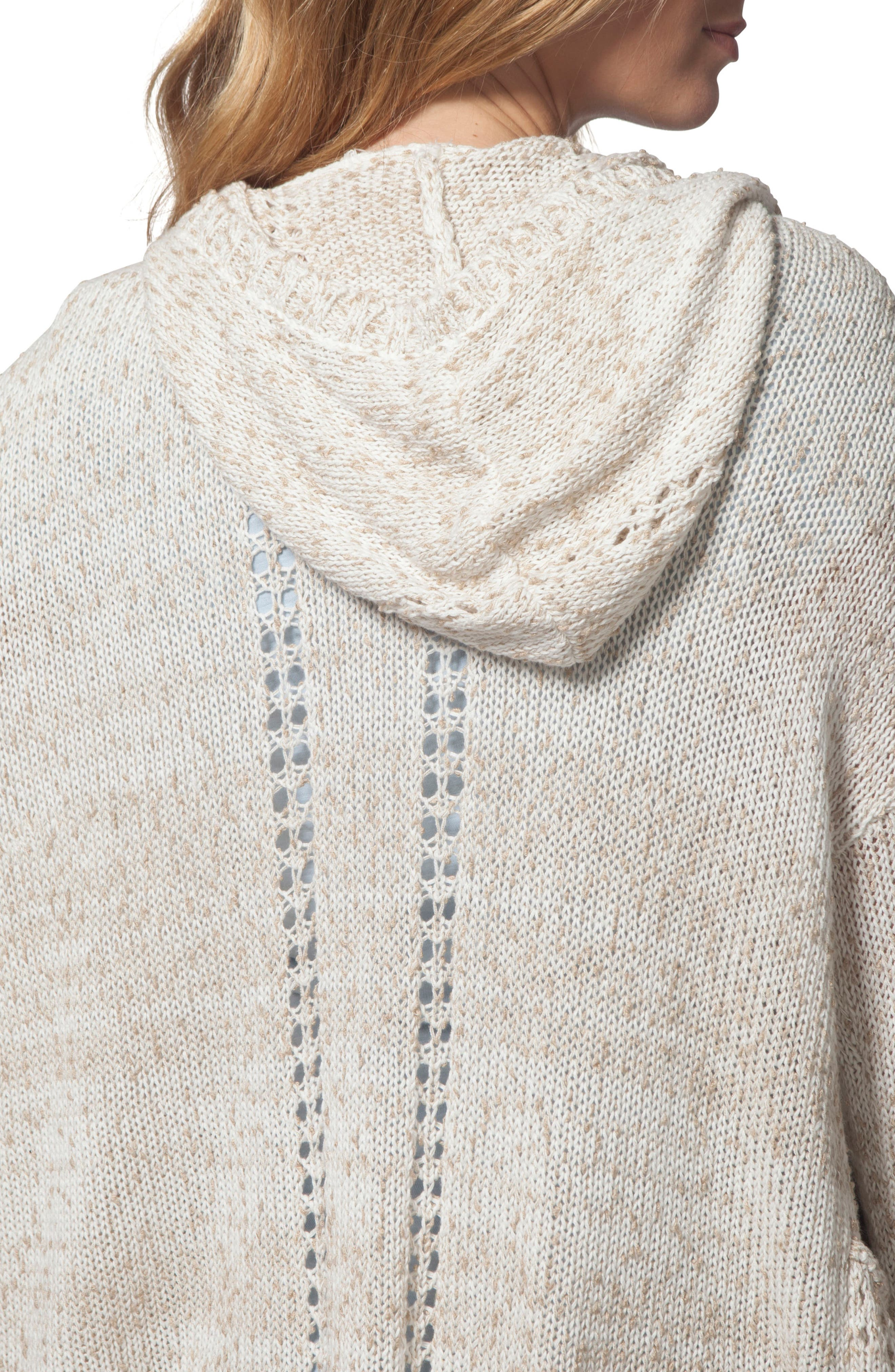 Swing By Hooded Cardigan,                             Alternate thumbnail 3, color,                             Natural