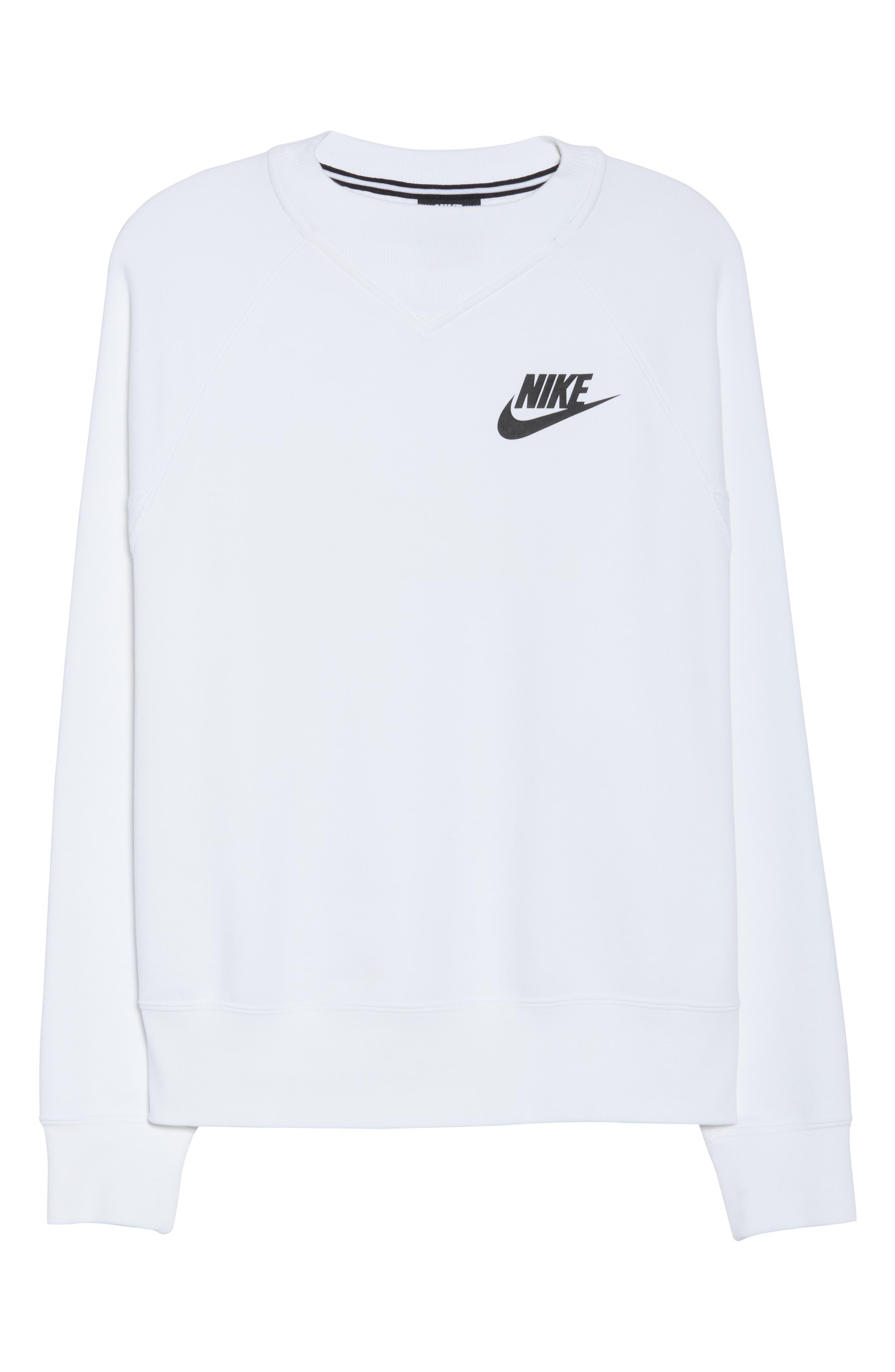 Sportswear Rally Sweatshirt,                             Alternate thumbnail 7, color,                             Black/ White