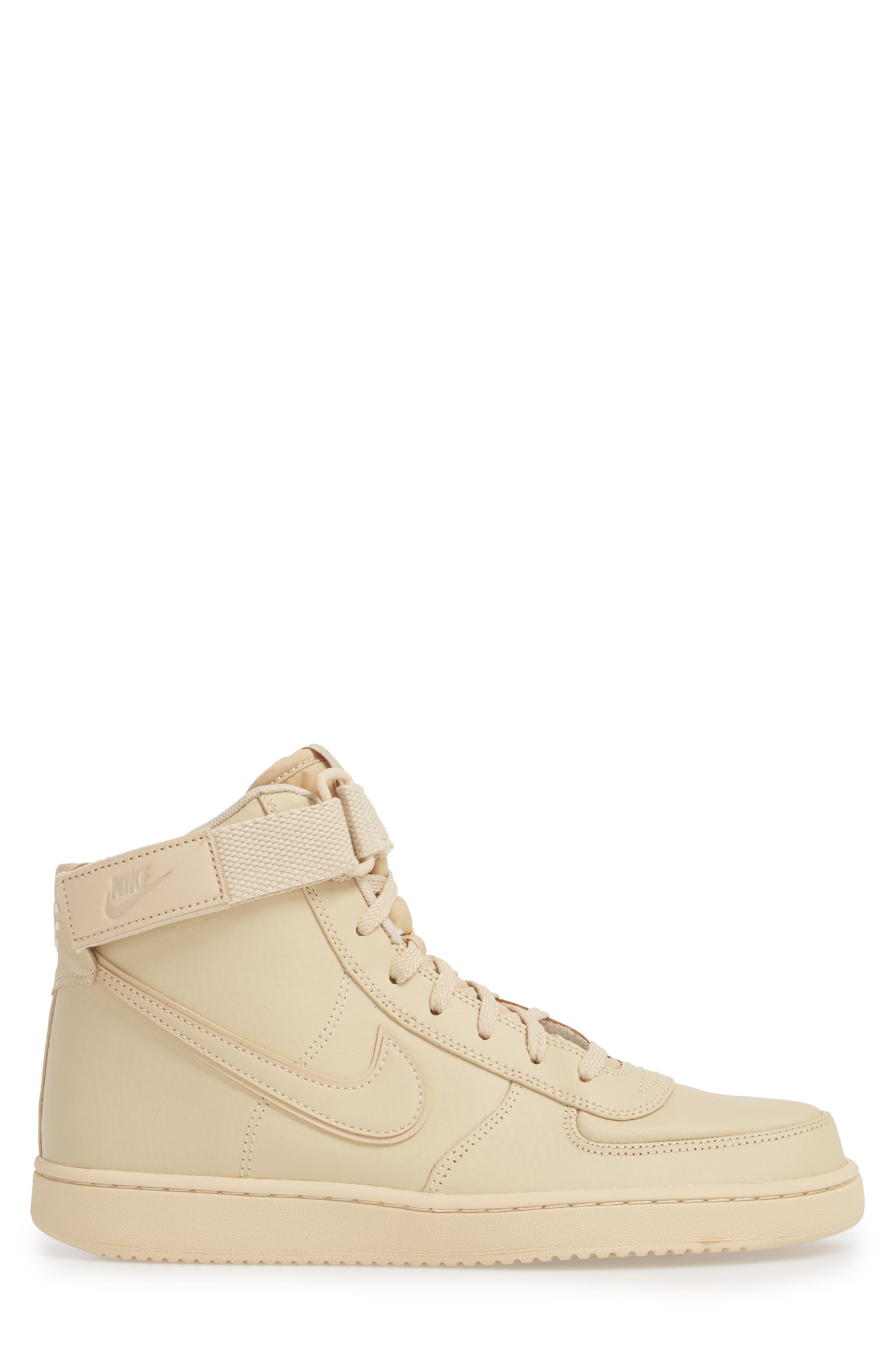 Vandal High Supreme Leather Sneaker,                             Alternate thumbnail 3, color,                             Desert Ore