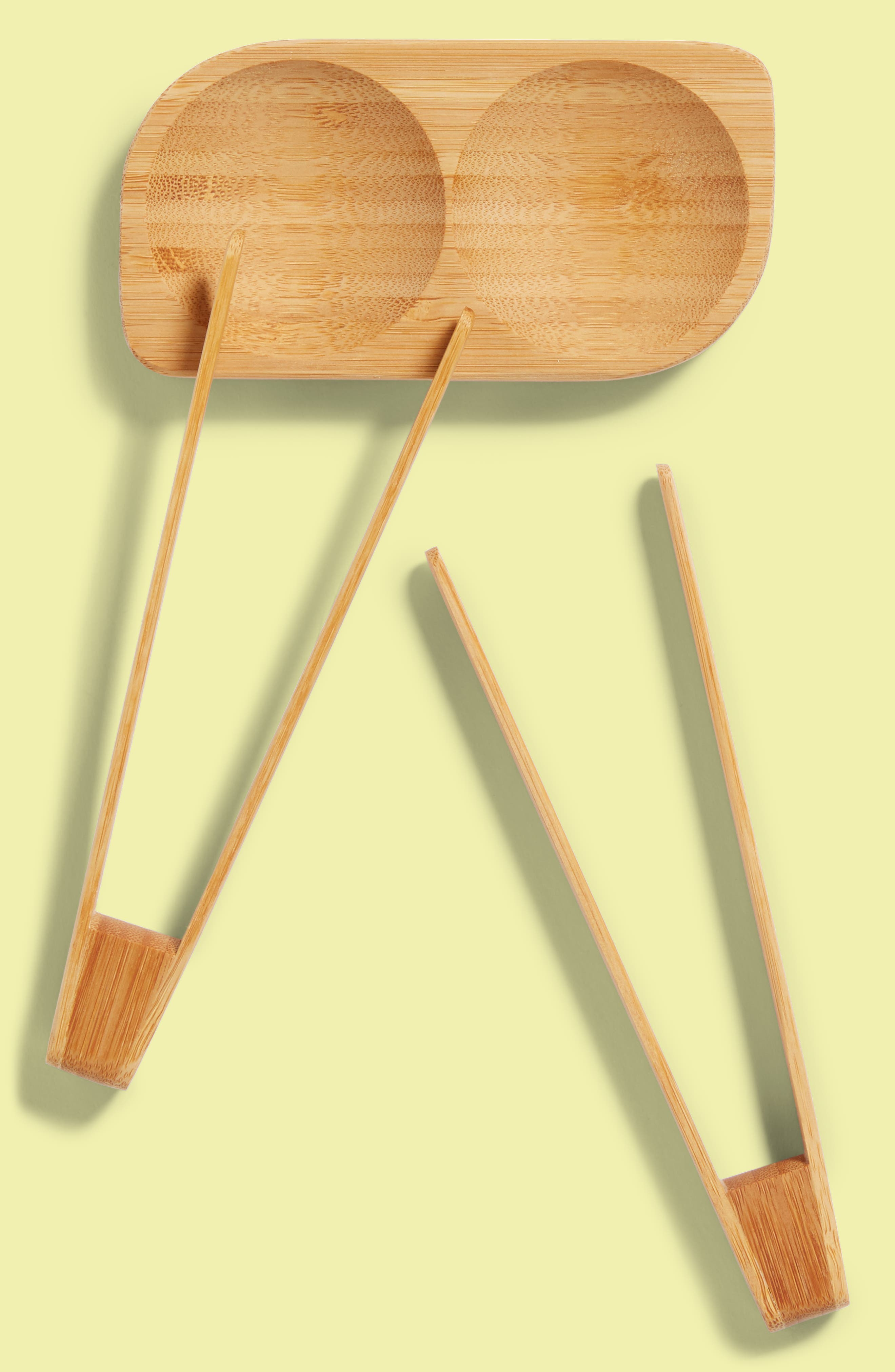 3-Piece Bamboo Sushi Tray & Songs Set,                         Main,                         color, Natural