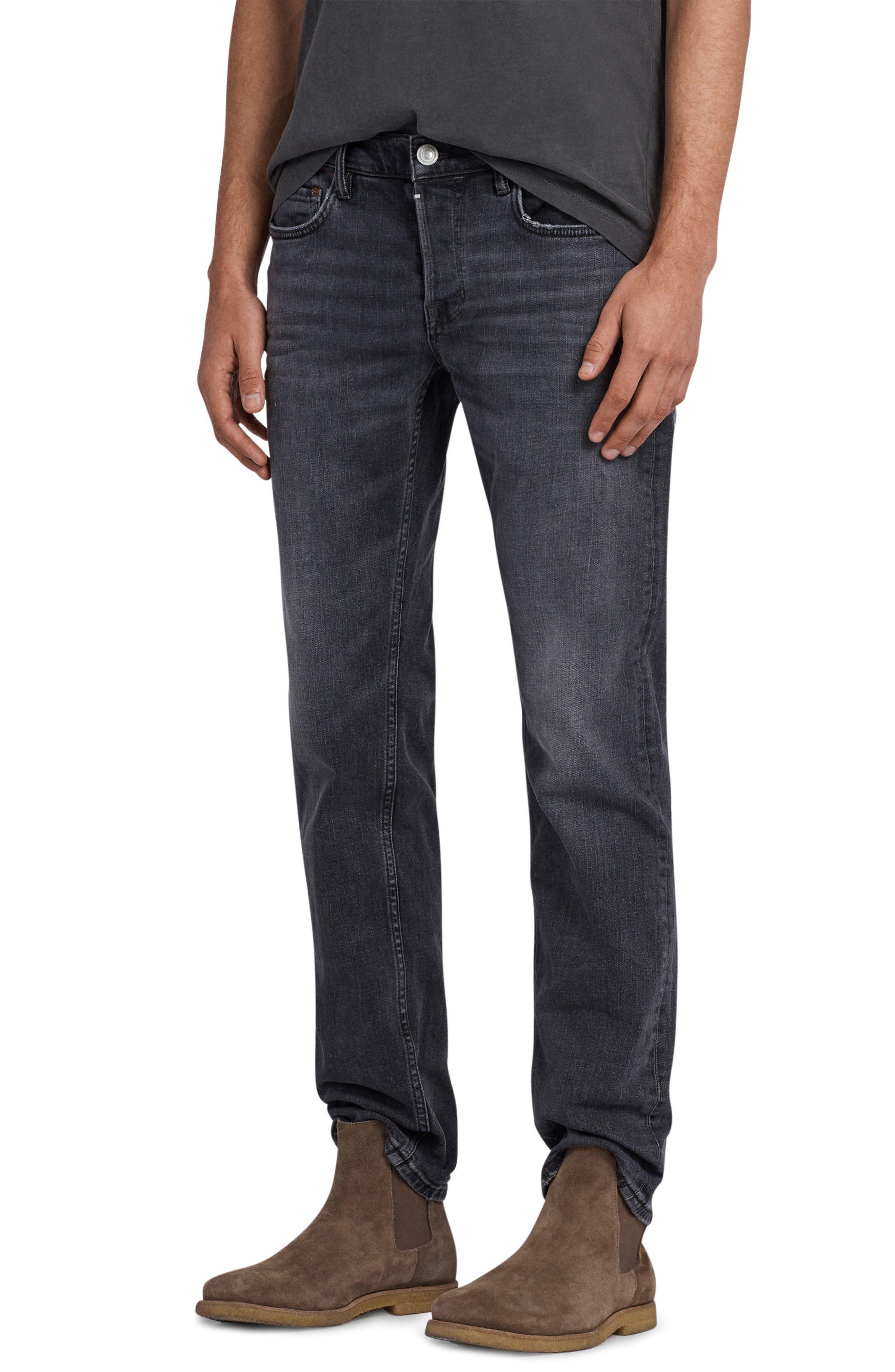 Graine Reed Regular Fit Jeans,                             Alternate thumbnail 3, color,                             Grey