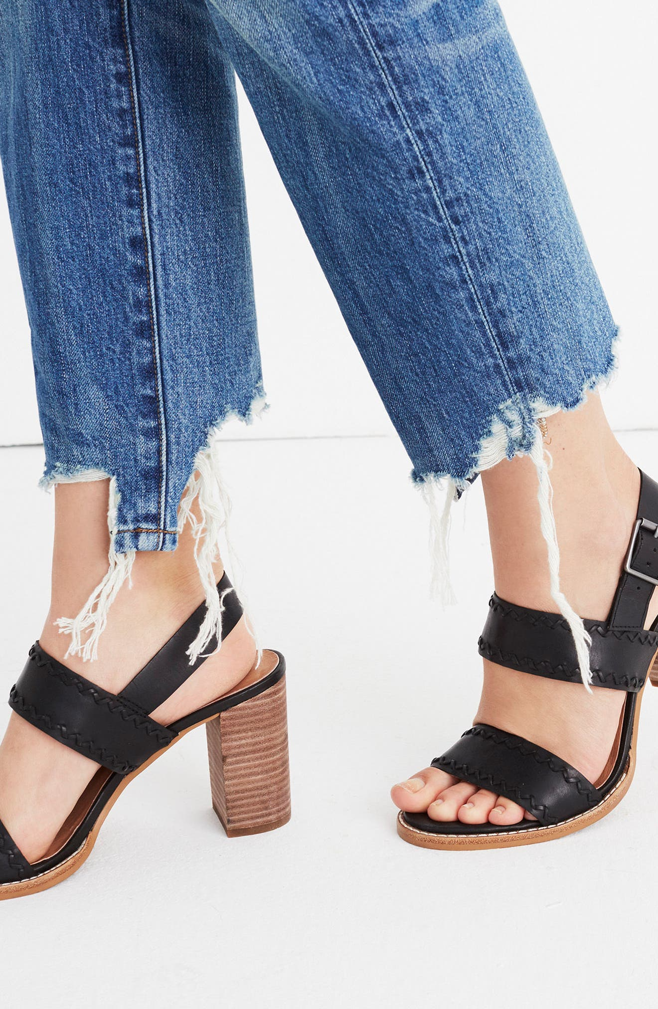 Giana Sandal,                             Alternate thumbnail 7, color,                             True Black Leather