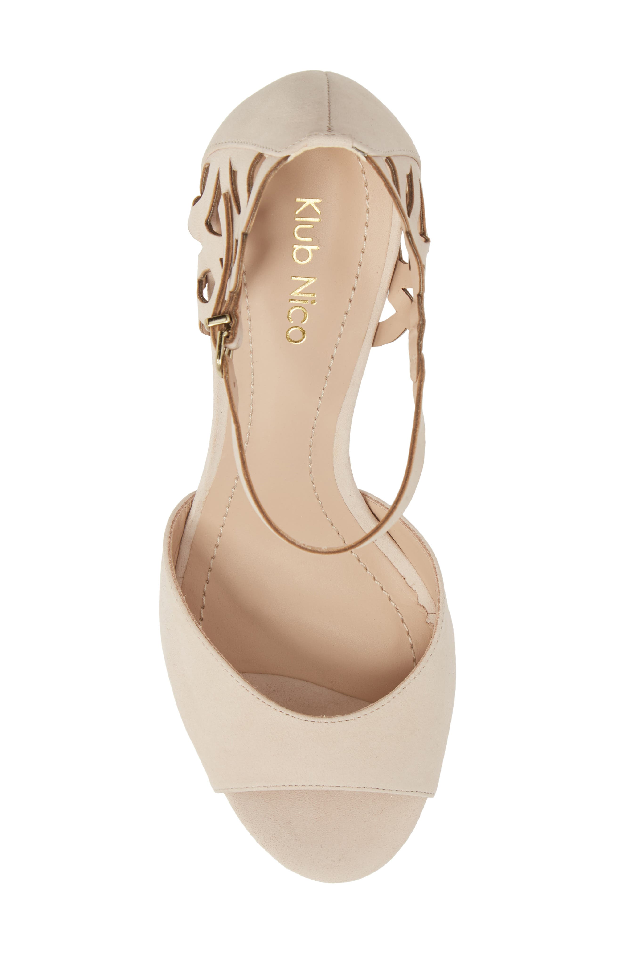 Adalie Sandal,                             Alternate thumbnail 5, color,                             Nude Leather