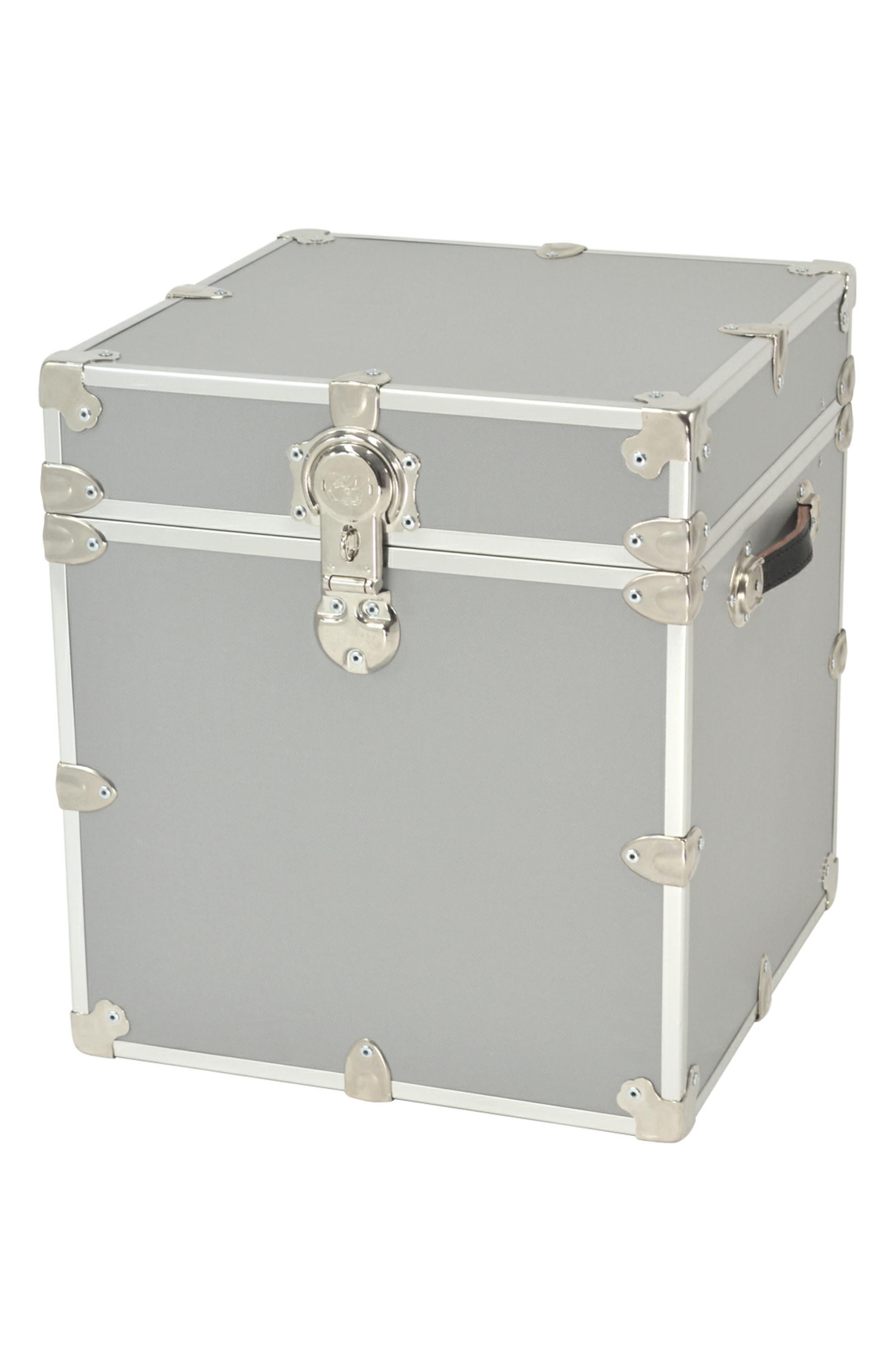 Rhino Trunk & Case Armor Cube Trunk,                         Main,                         color, Silver