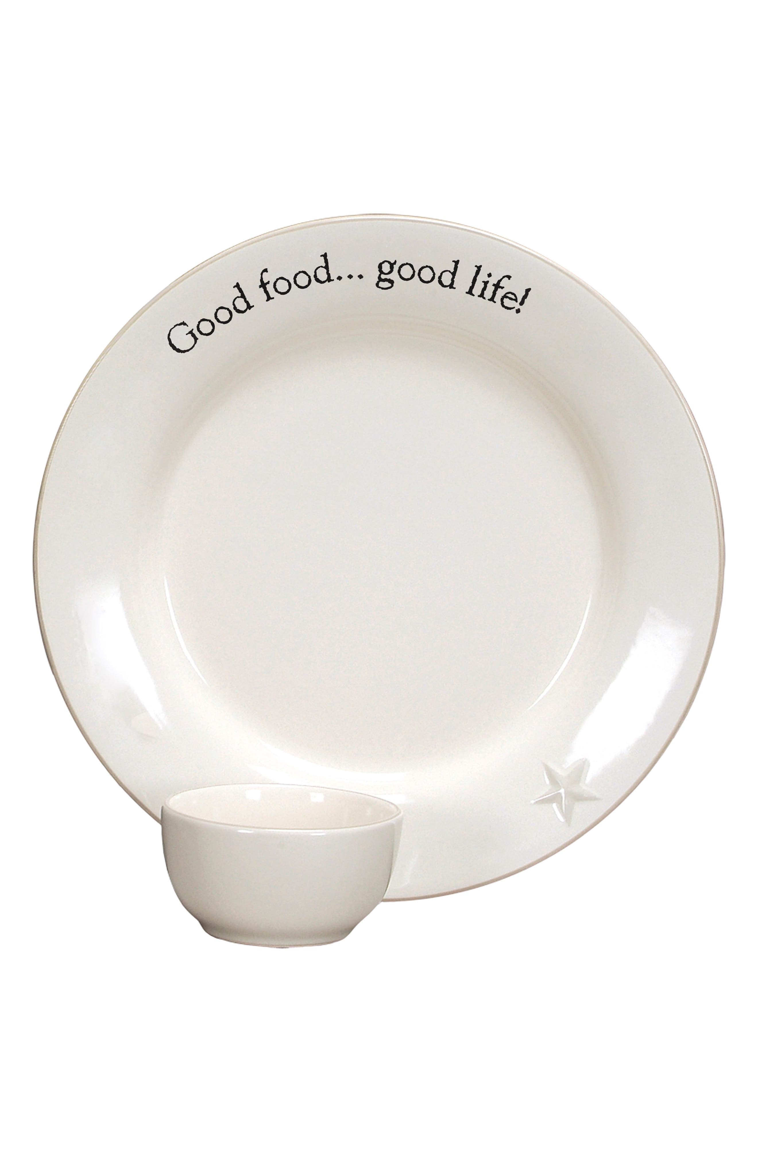 Word Expressions Chip & Dip Set,                         Main,                         color, White