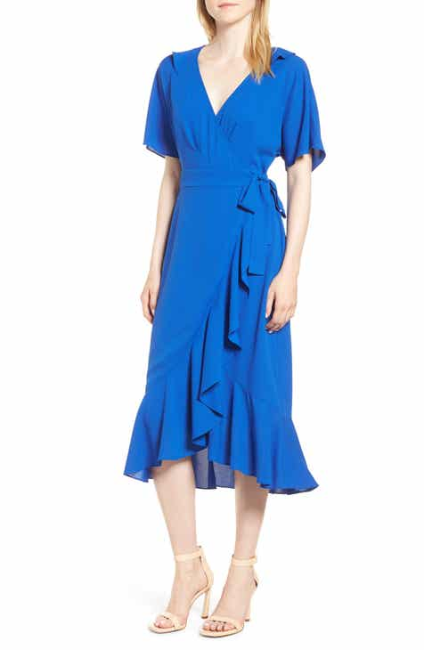 Whistles Abigail Frill Wrap Midi Dress
