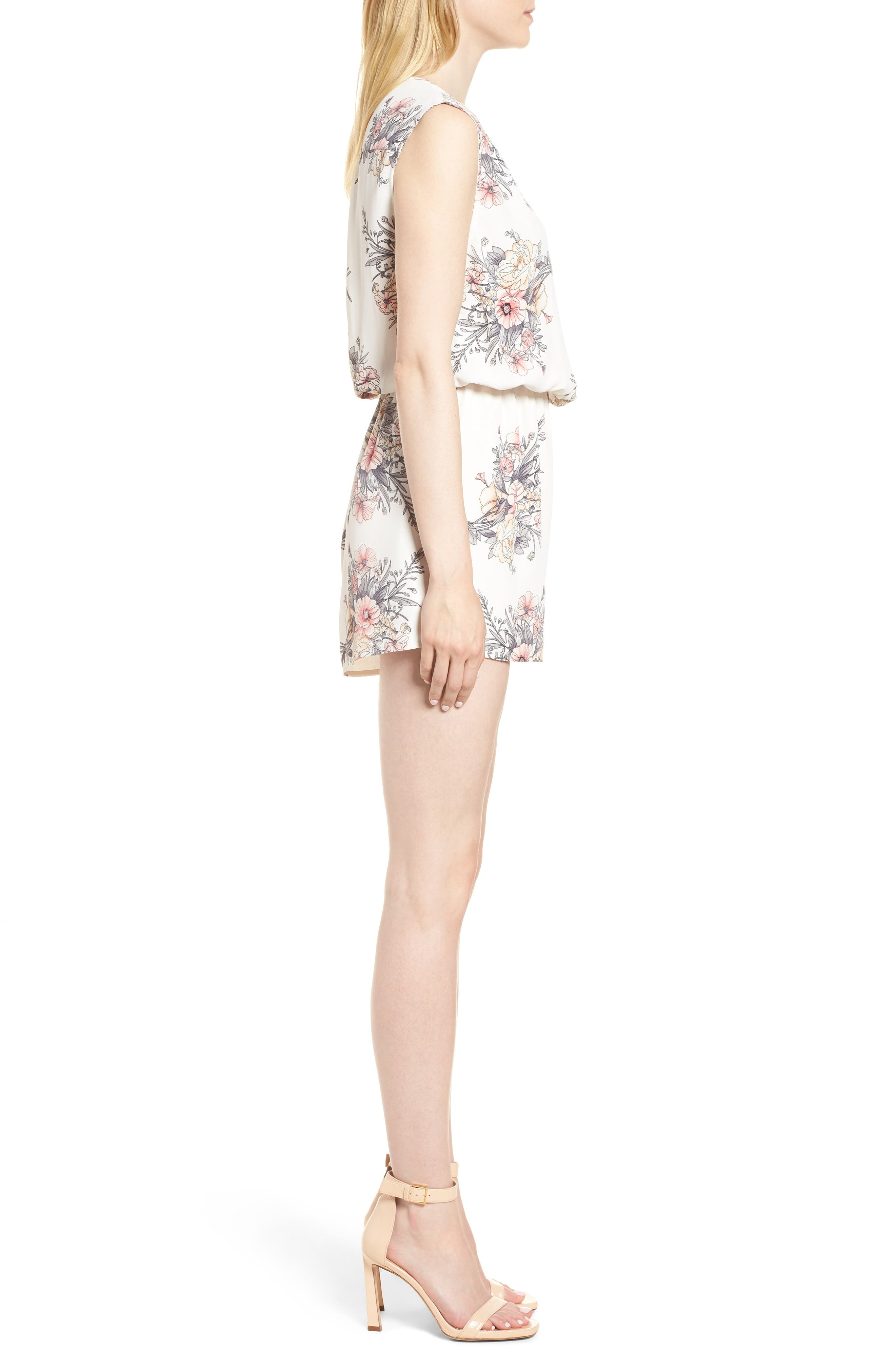 Bishop + Young Summer of Love Romper,                             Alternate thumbnail 3, color,                             Summer Of Love Print