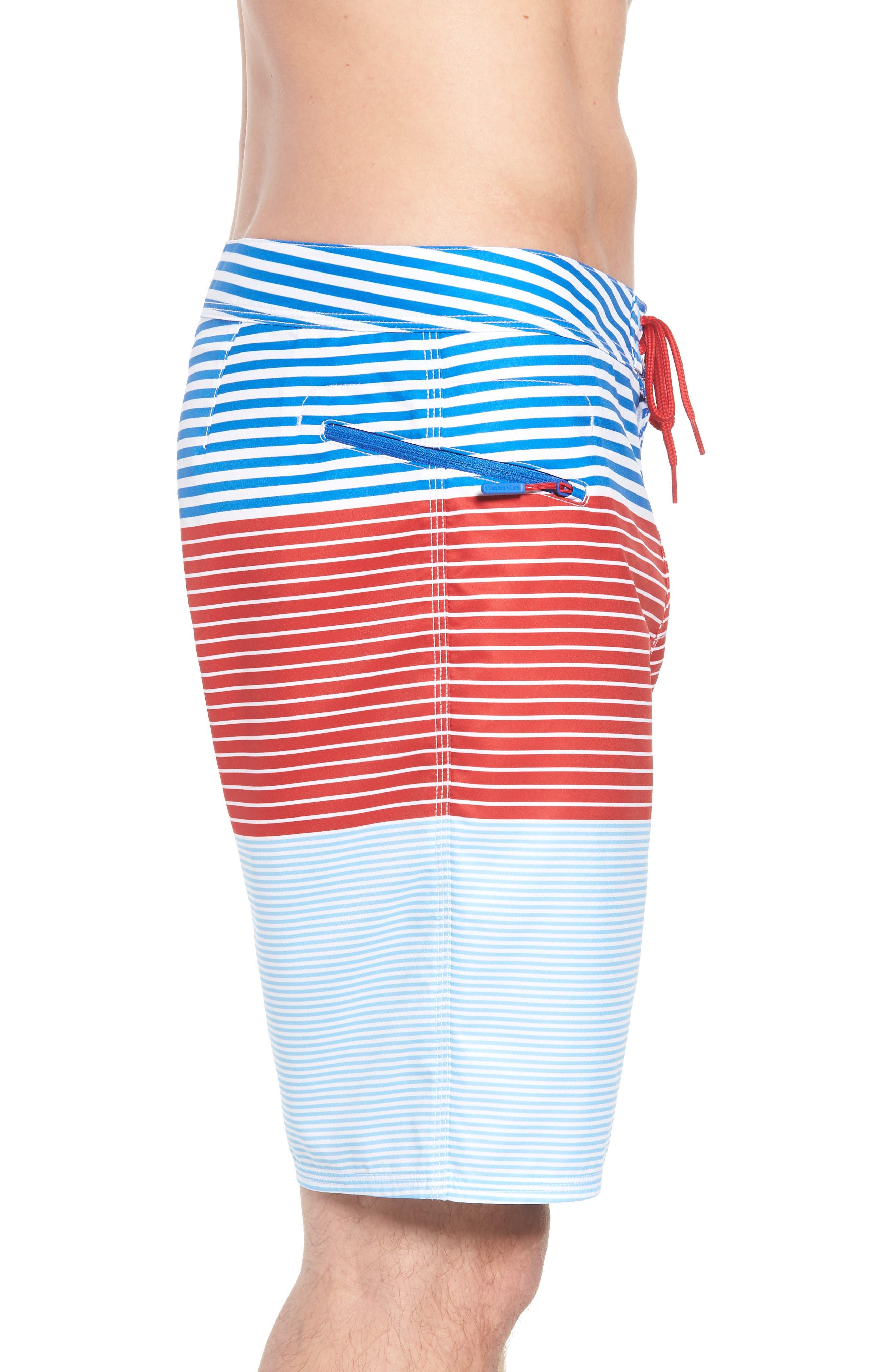 Whale Harbor Stripe Board Shorts,                             Alternate thumbnail 3, color,                             Spinnaker