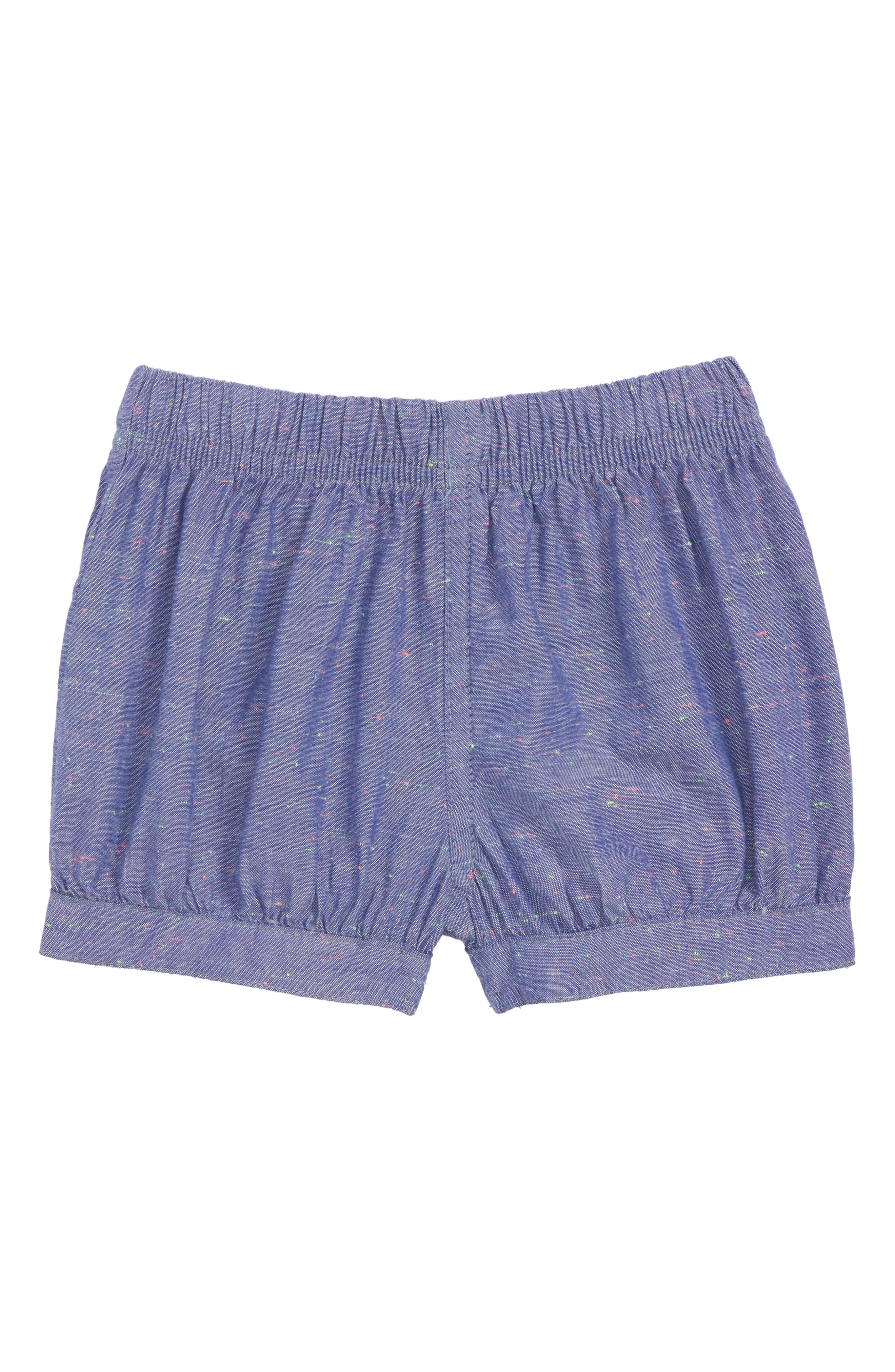 Tea Collection Chambray Bubble Shorts (Baby Girls)