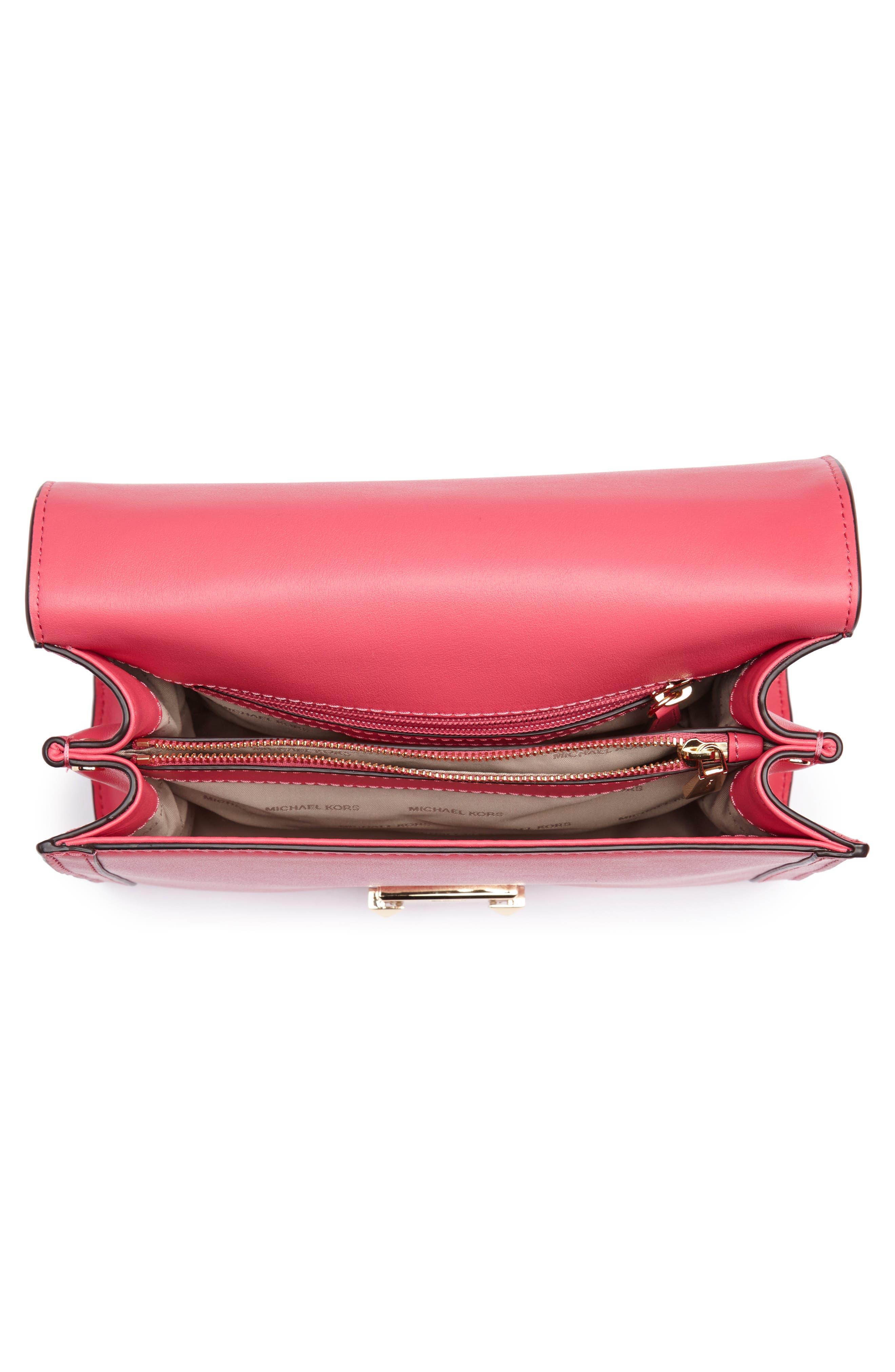 Large Whitney Leather Shoulder Bag,                             Alternate thumbnail 4, color,                             Rose Pink