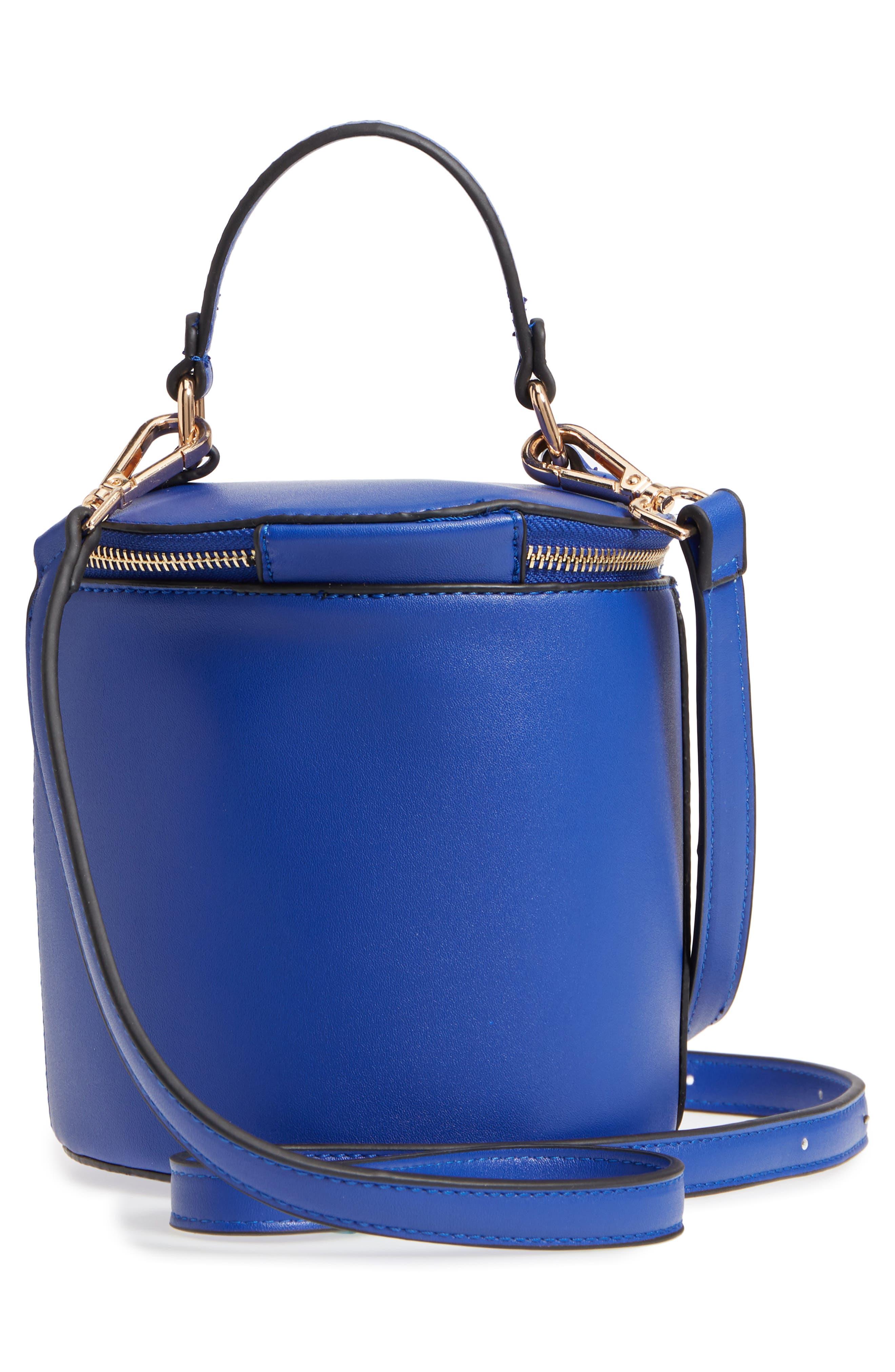 Top Handle Cylinder Bag,                             Alternate thumbnail 3, color,                             Cobalt