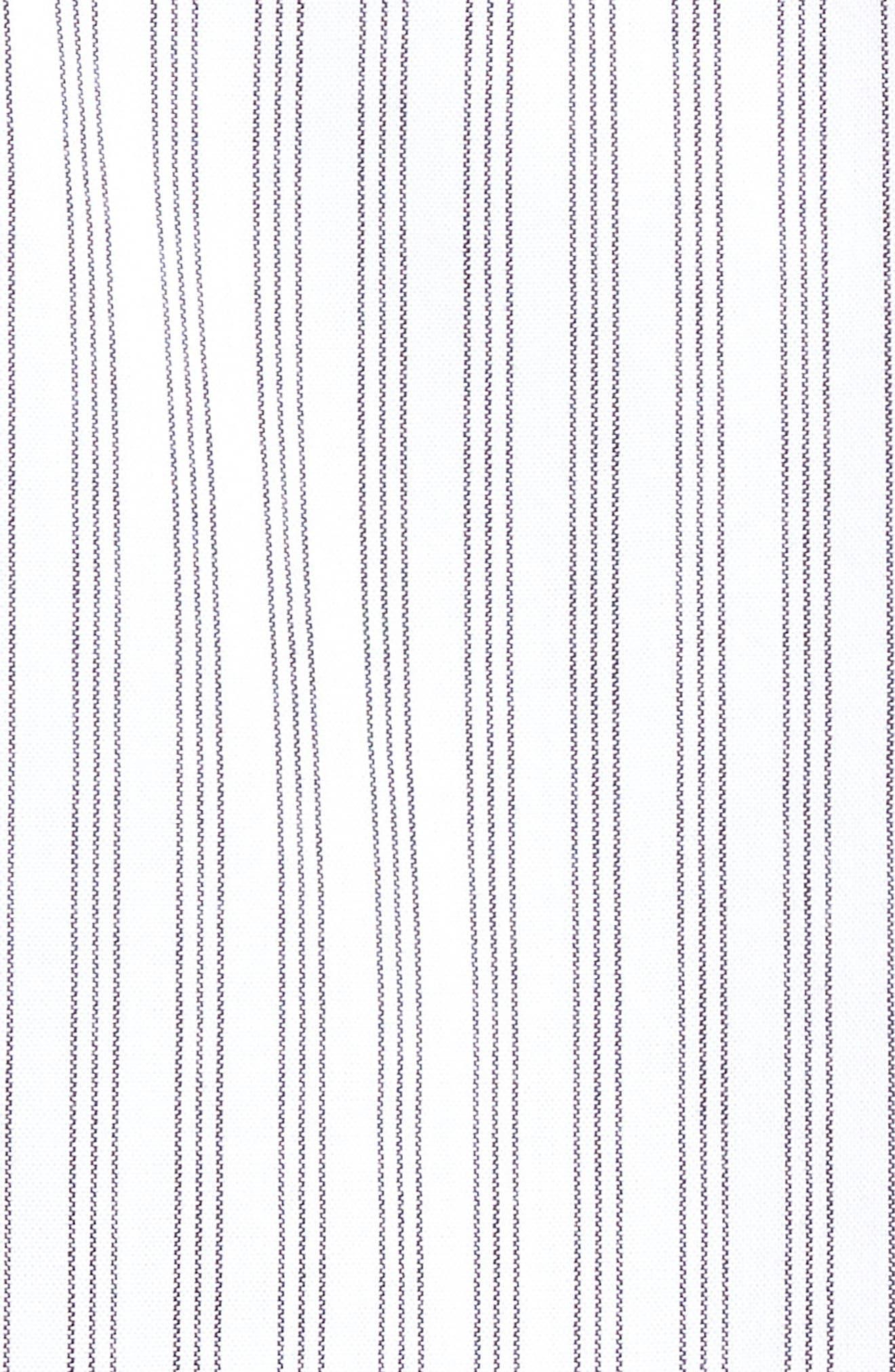 Rollins Woven Shirt,                             Alternate thumbnail 5, color,                             Black/White Stripe