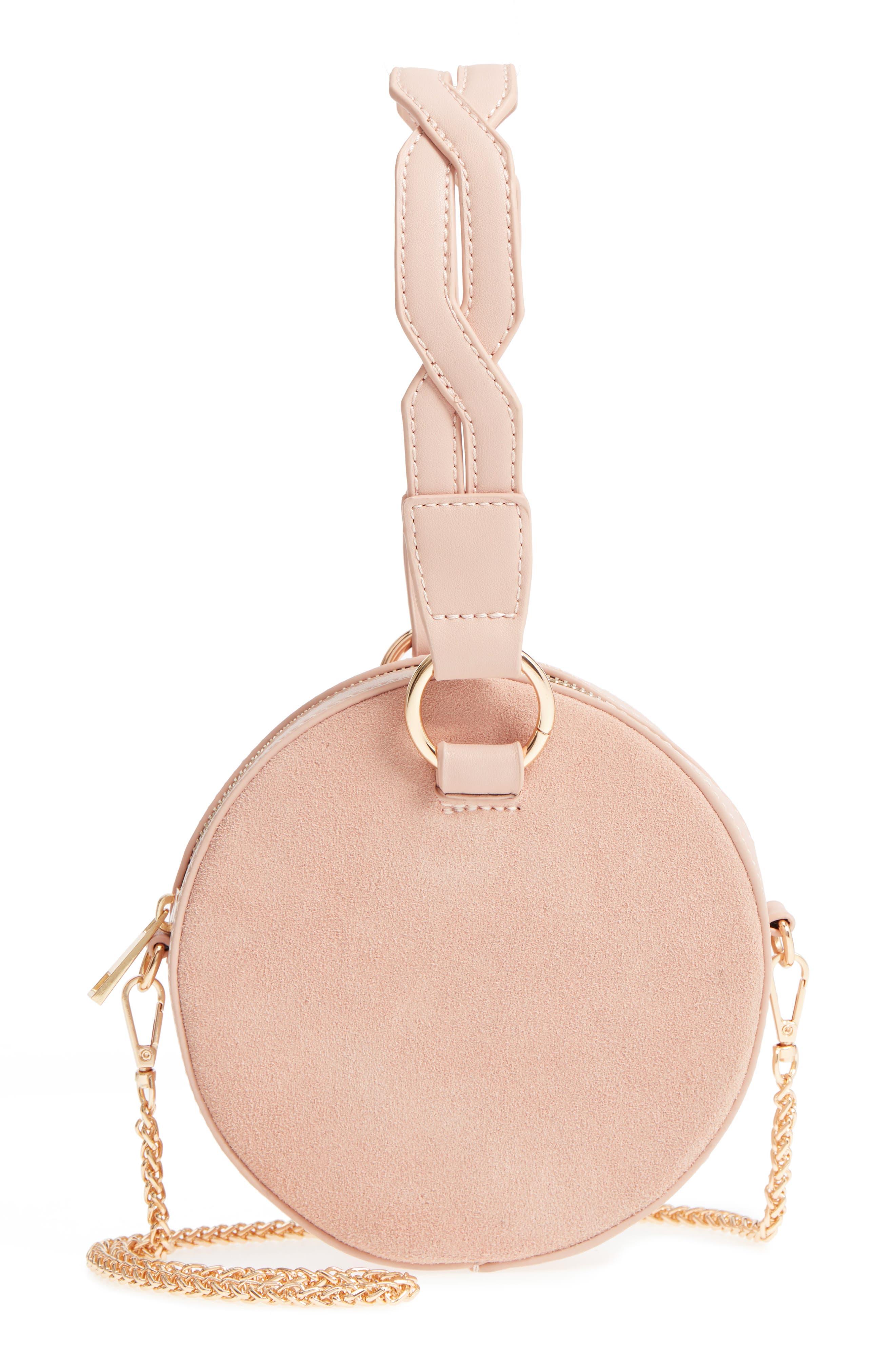 Circle Bag with Wristlet,                             Main thumbnail 1, color,                             Tan